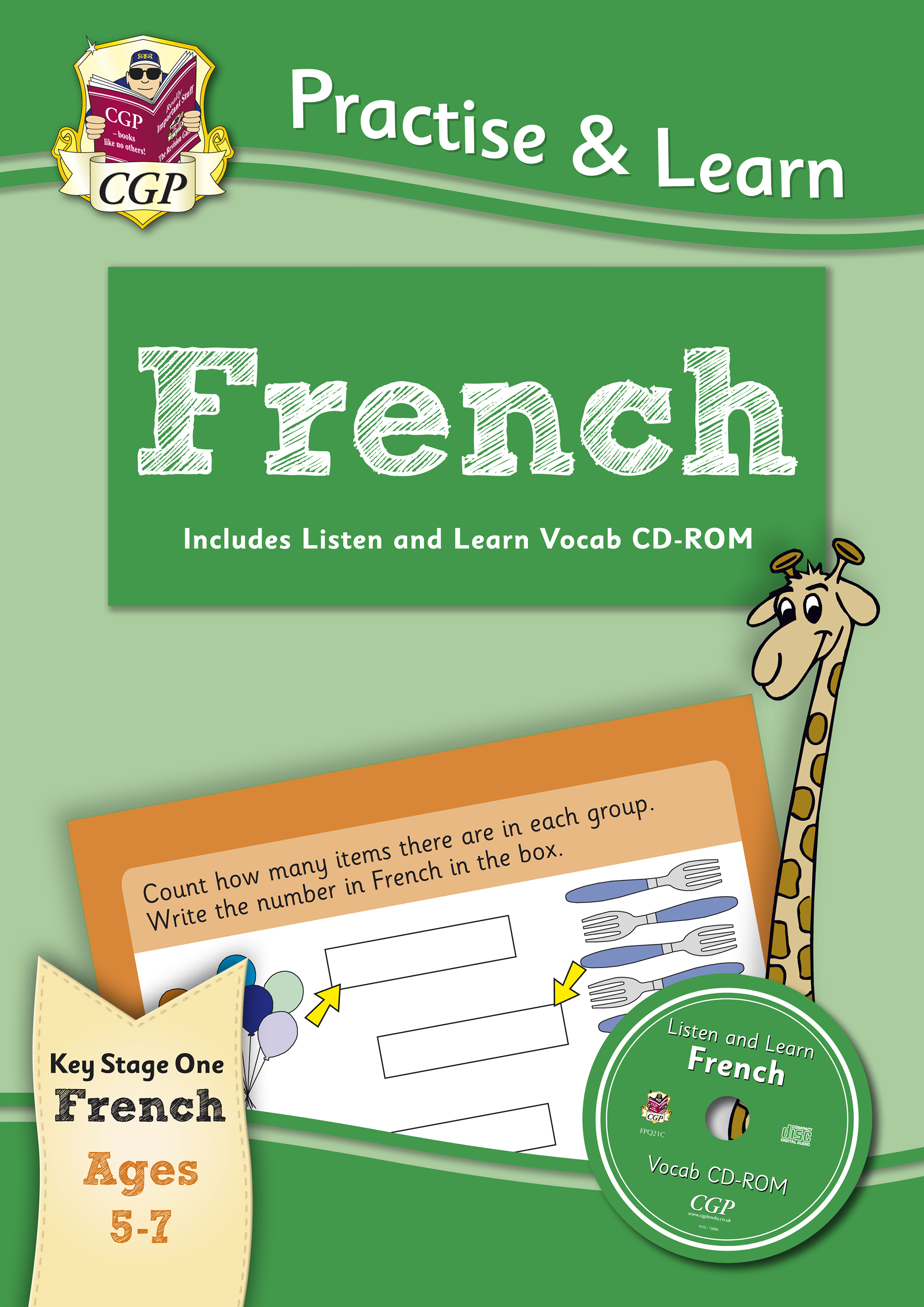 FPQ12 - New Curriculum Practise & Learn: French for Ages 5-7 - with vocab CD-ROM