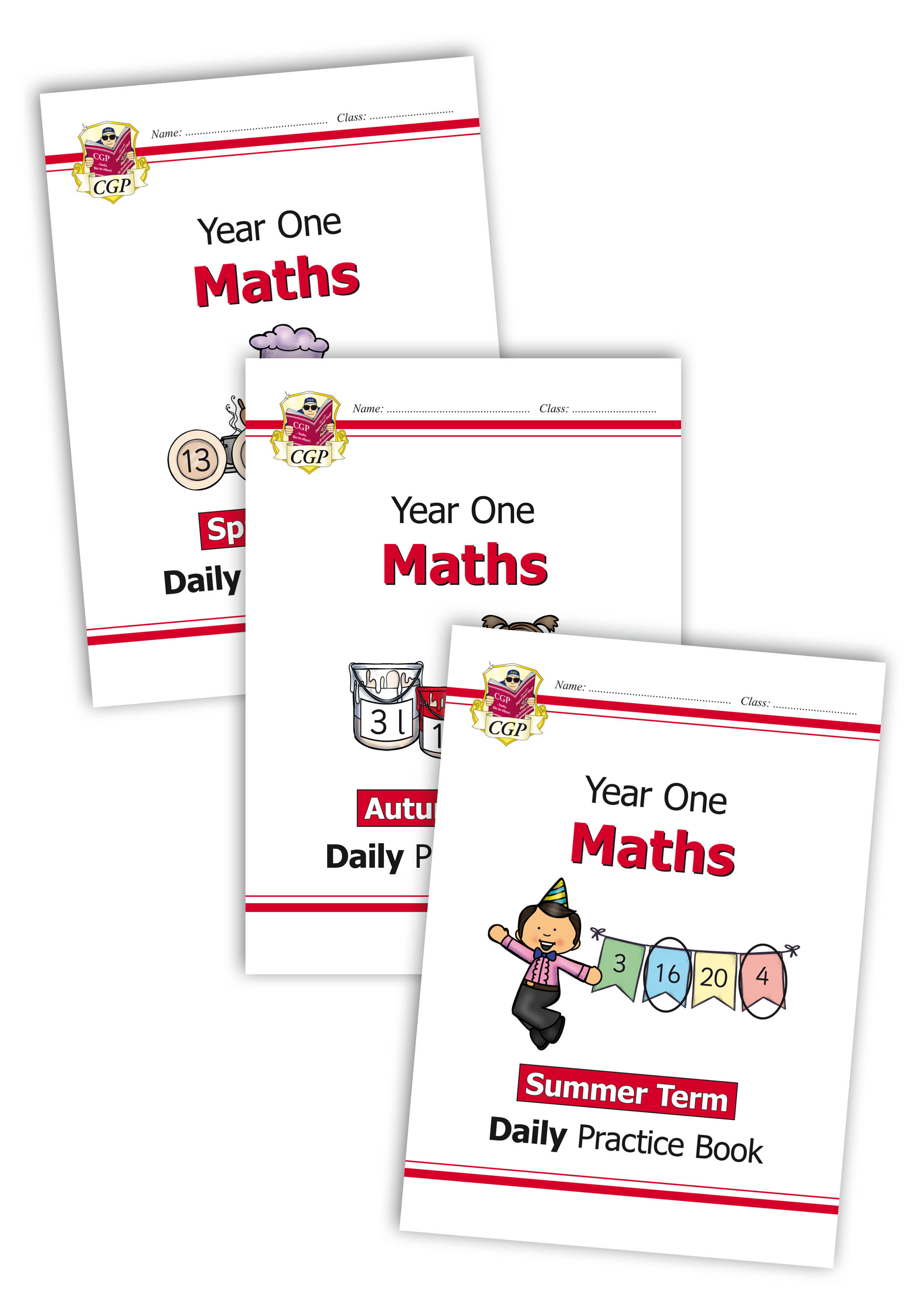 M1WB11 - New KS1 Maths Daily Practice Book Bundle: Year 1 - Autumn Term, Spring Term & Summer Term