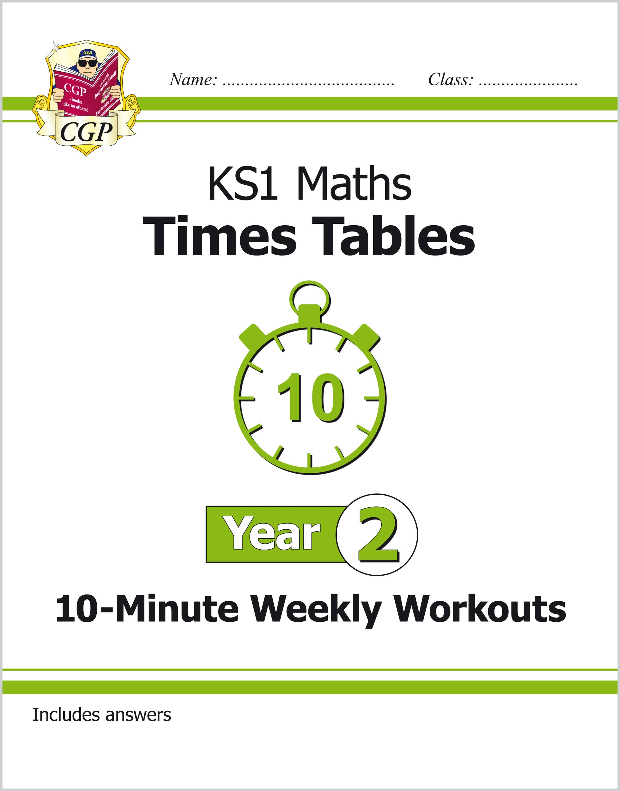 M2TXW11 - New KS1 Maths: Times Tables 10-Minute Weekly Workouts - Year 2