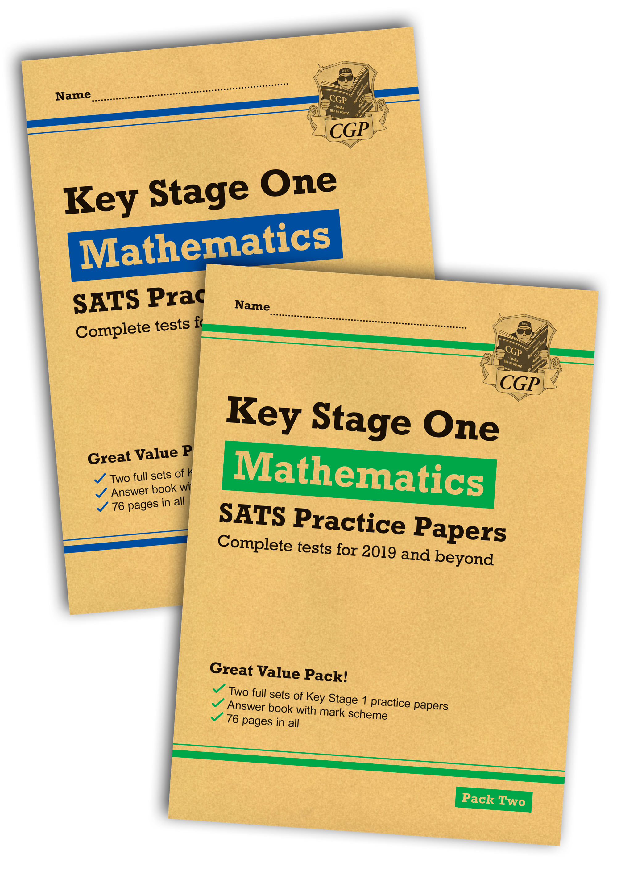 MHB2P13 - New KS1 Maths SATS Practice Paper Bundle: Pack 1 & 2 (for the 2019 tests)