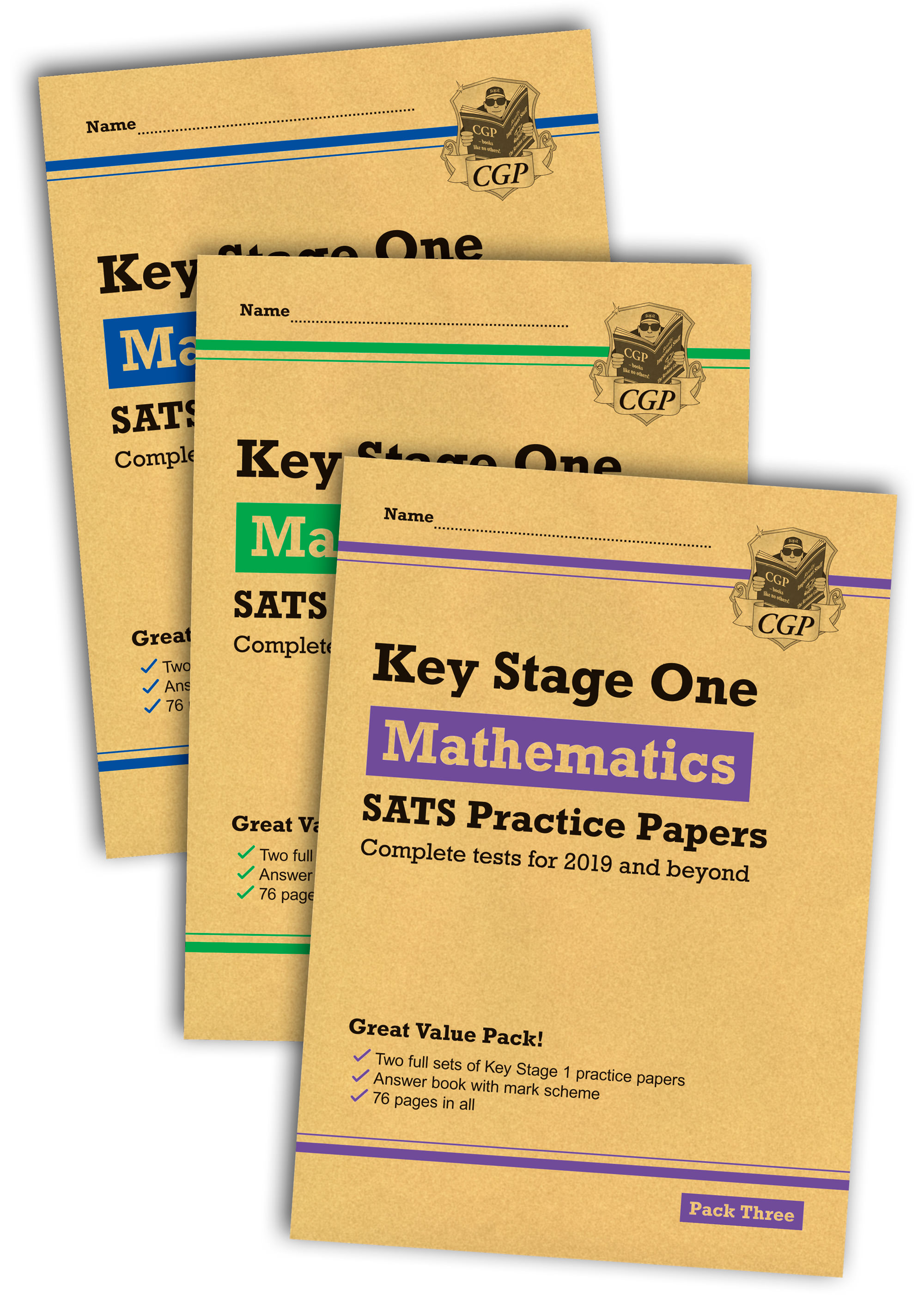 MHB3P13 - New KS1 Maths SATS Practice Paper Bundle: Packs 1, 2 & 3 (for the 2020 tests)