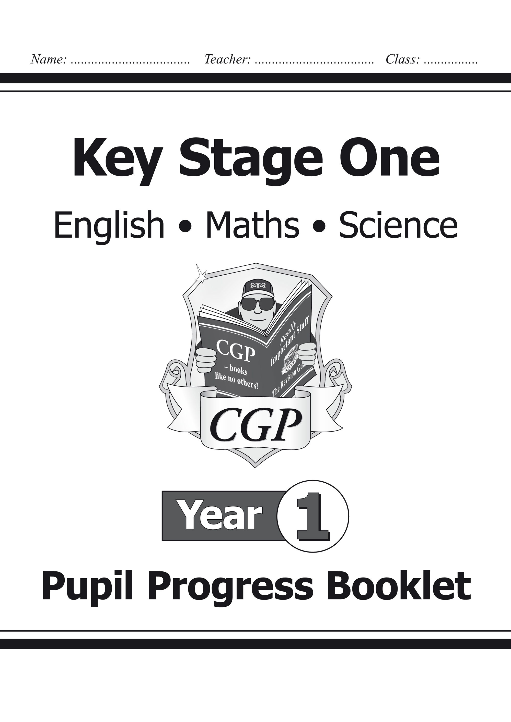 SME1P11 - KS1 Pupil Progress Booklet for English, Maths and Science - Year 1