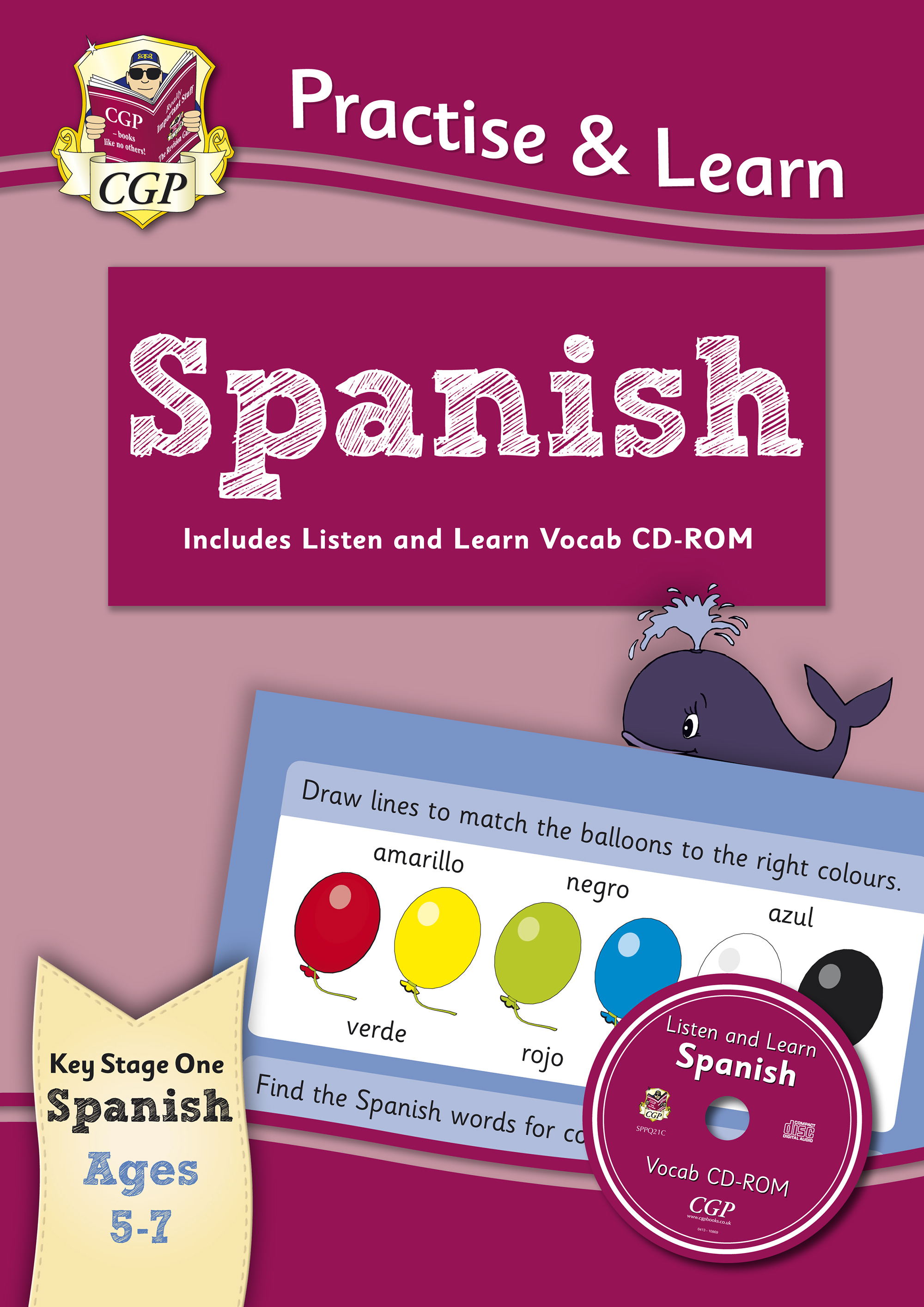 SPPQ12 - Practise & Learn: Spanish for Ages 5-7 - with vocab CD-ROM