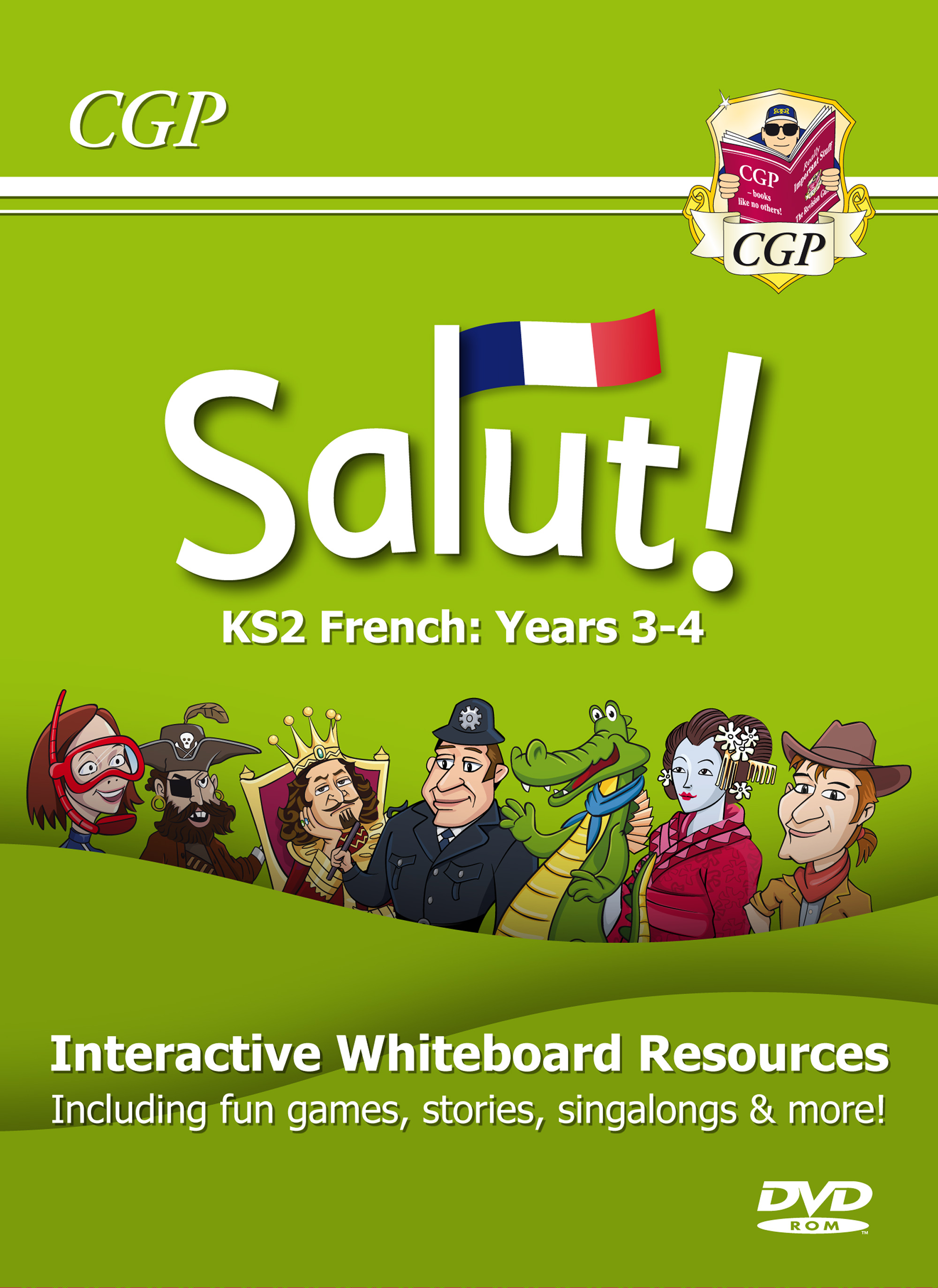 21FS4CP - Salut! KS2 French Interactive Whiteboard Resources - Years 3-4 (DVD-ROM)