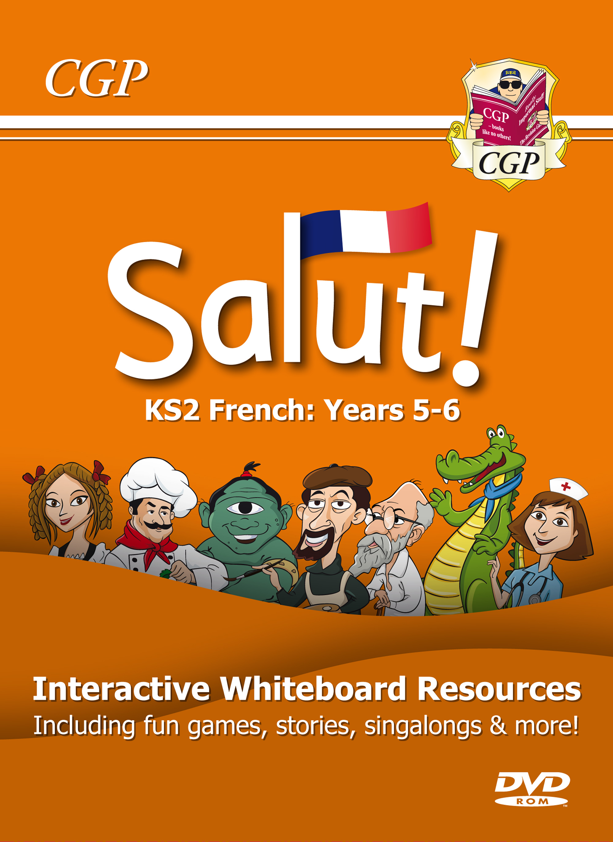 21FS6C1 - Salut! KS2 French Interactive Whiteboard Resources - Years 5-6 (DVD-ROM, 1-Year licence)