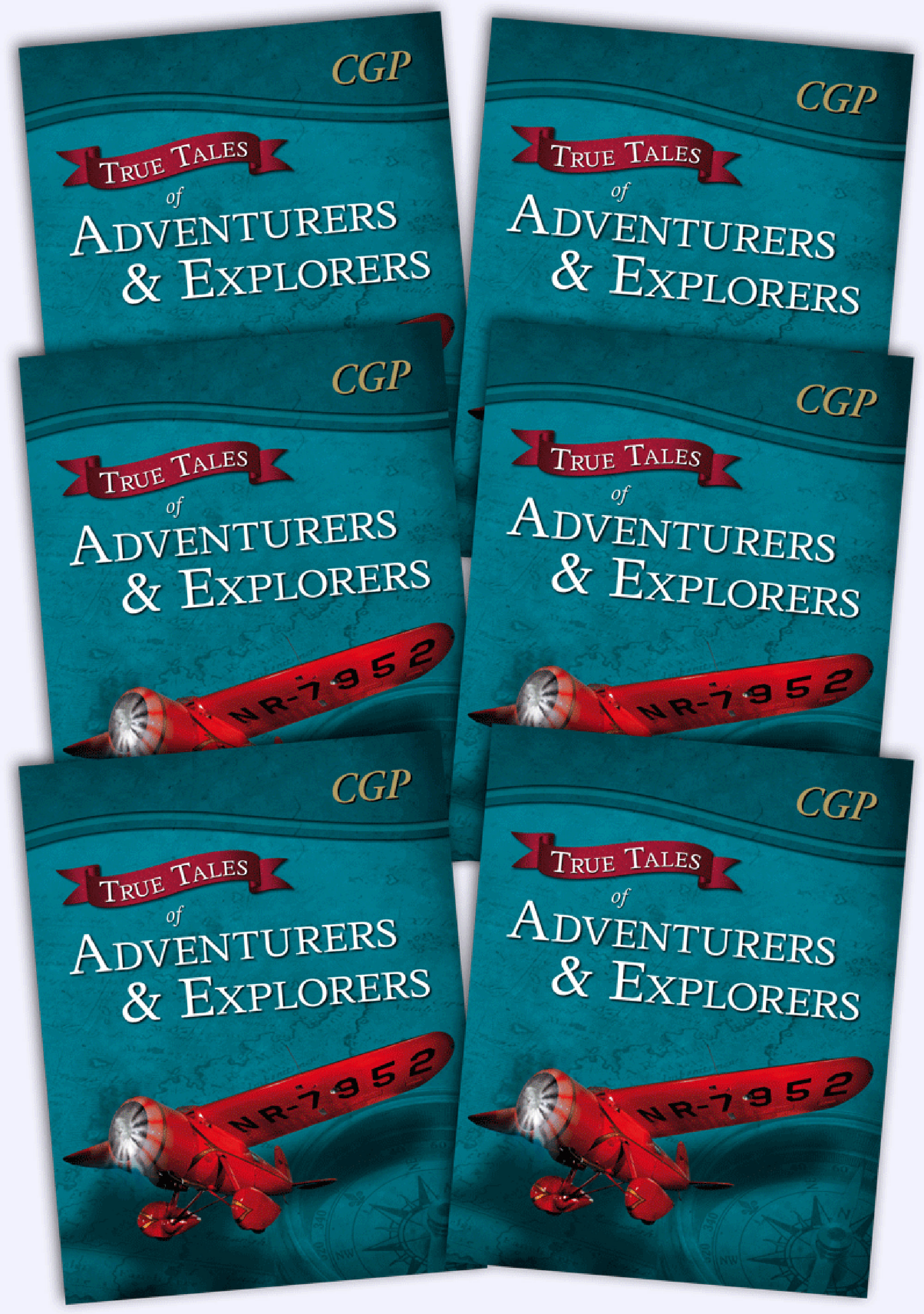 6AAR21 - True Tales of Adventurers & Explorers Bundle: 6 x Reading Book