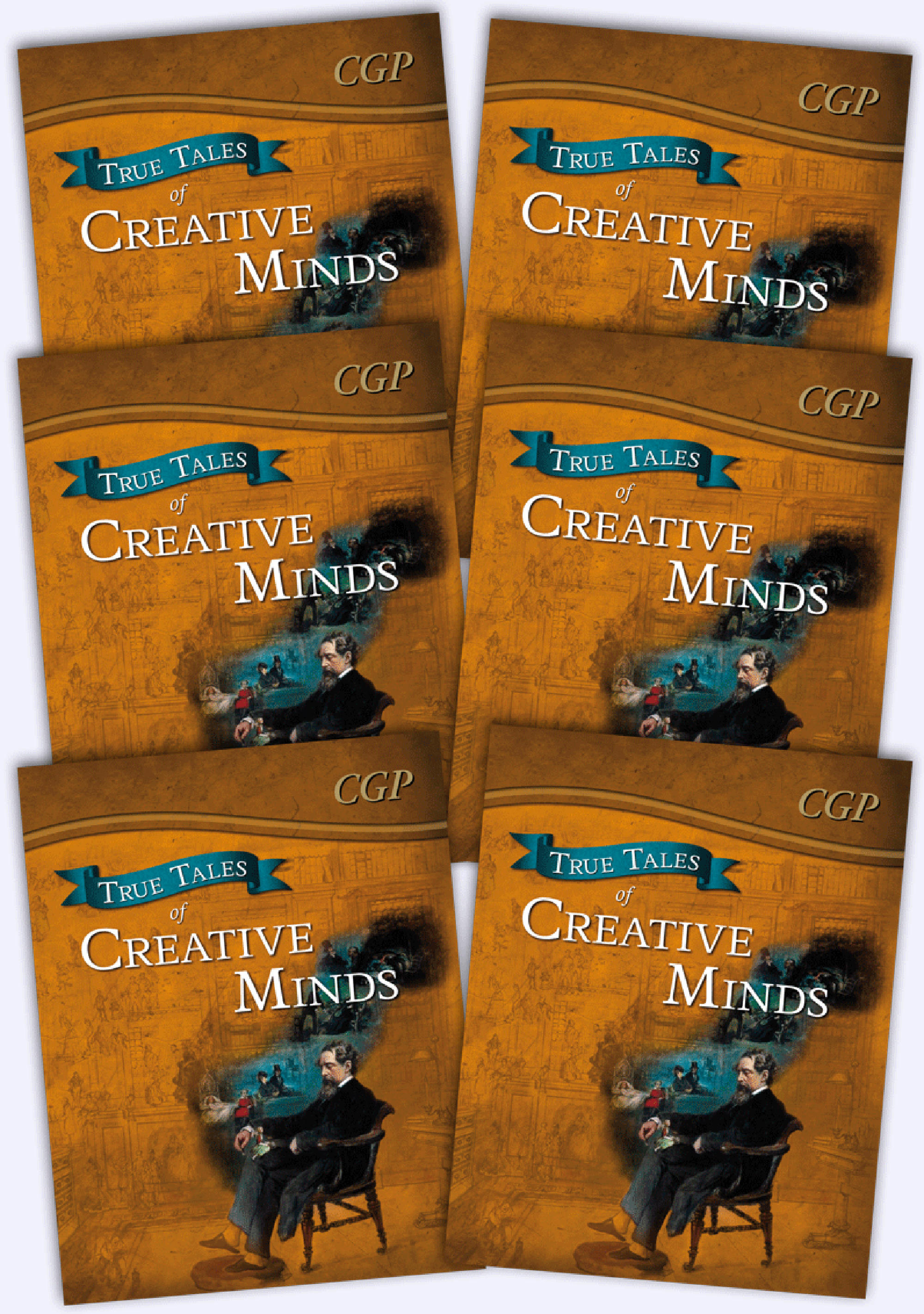 6ACR21 - True Tales of Creative Minds Bundle: 6 x Reading Book