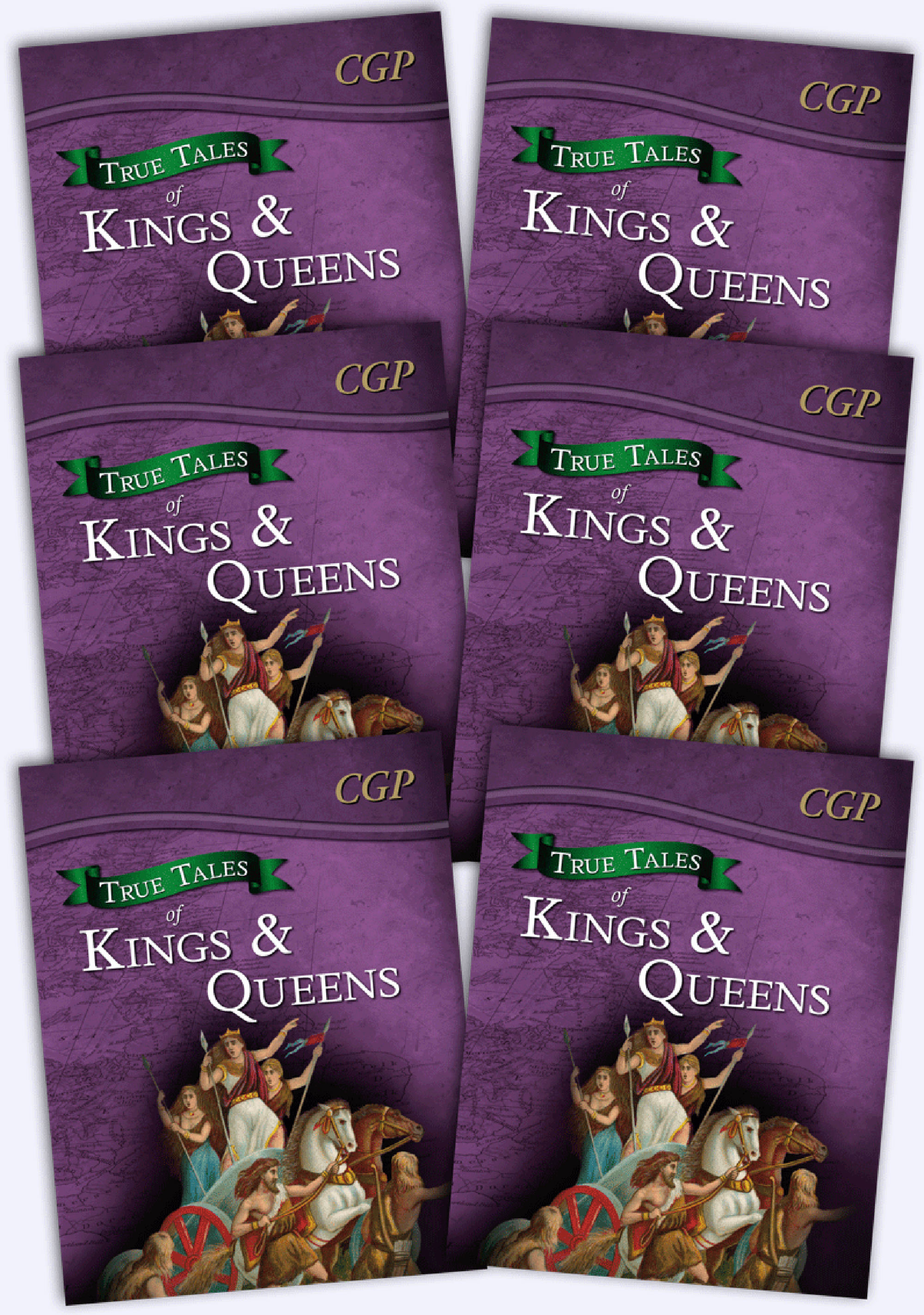 6AHR21 - True Tales of Kings & Queens Bundle: 6 x Reading Book