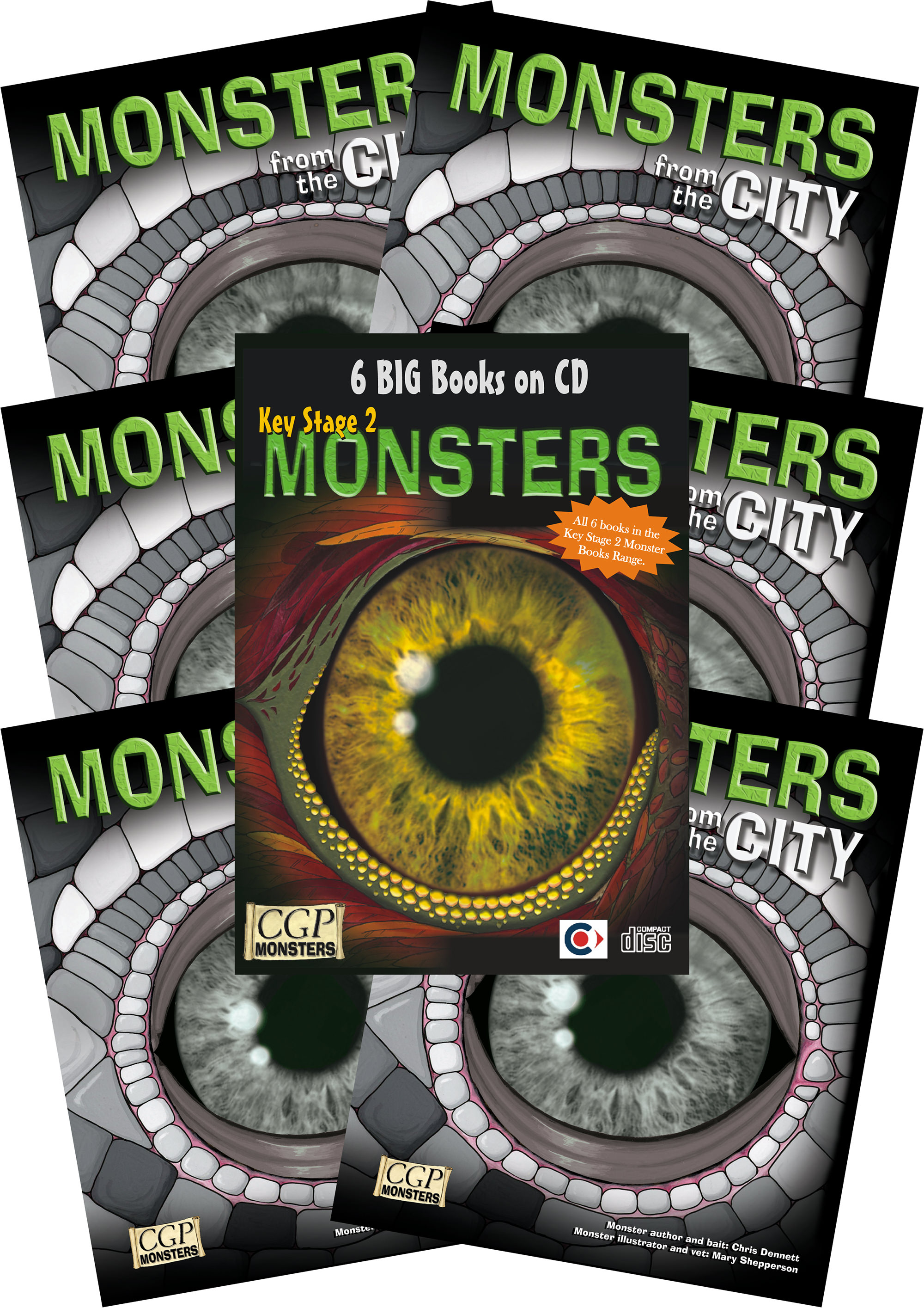 6CIMC2 - 6 x KS2 Monsters from the City + CDROM