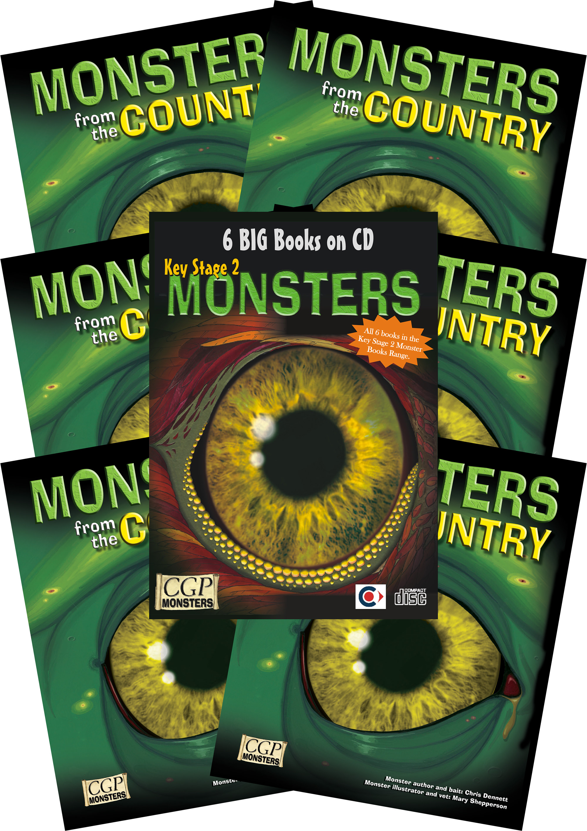 6COMC2 - 6 x KS2 Monsters from the Country + CDROM