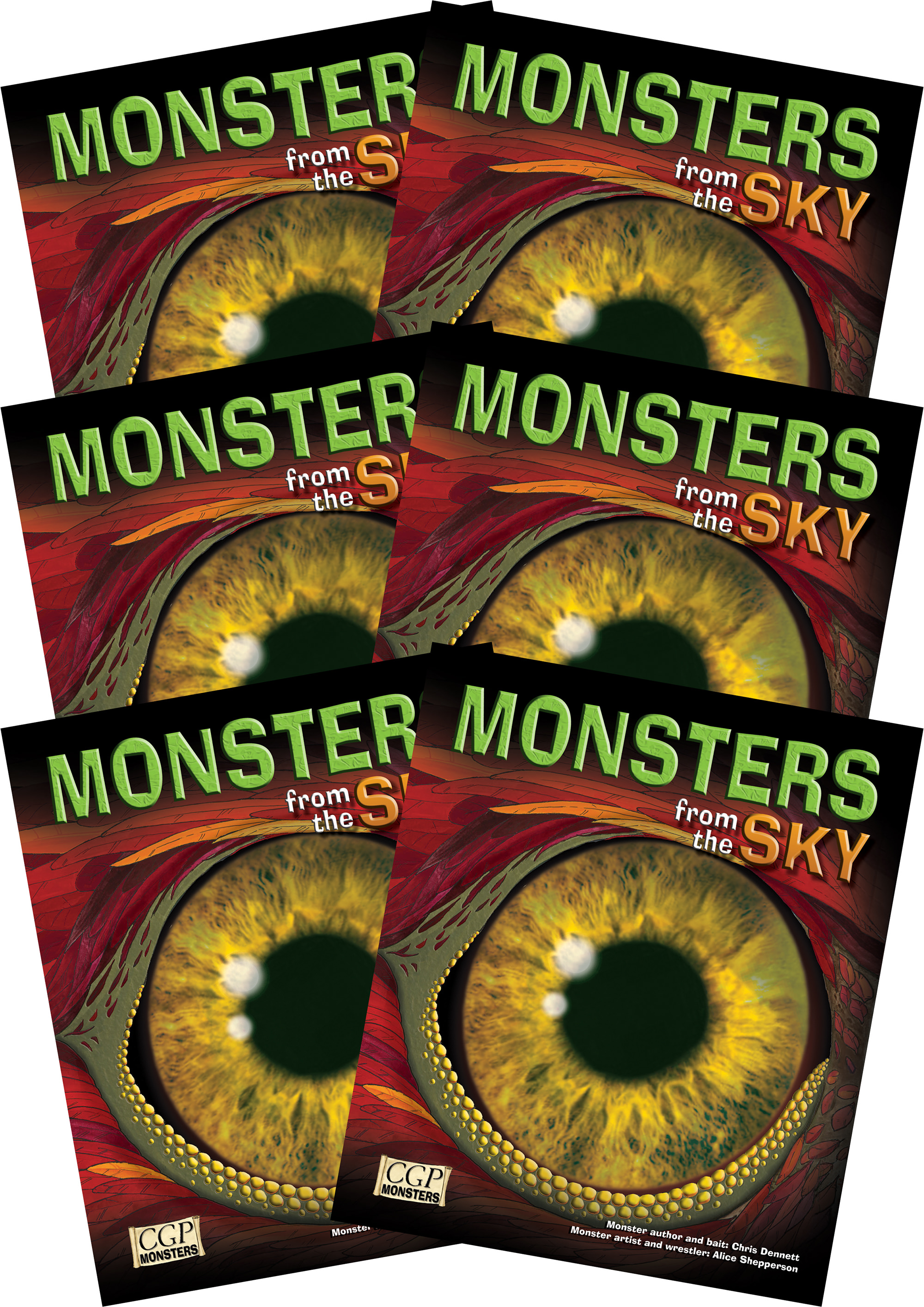 6RSKM2 - 6 x KS2 Monsters from the Sky Reading Pack