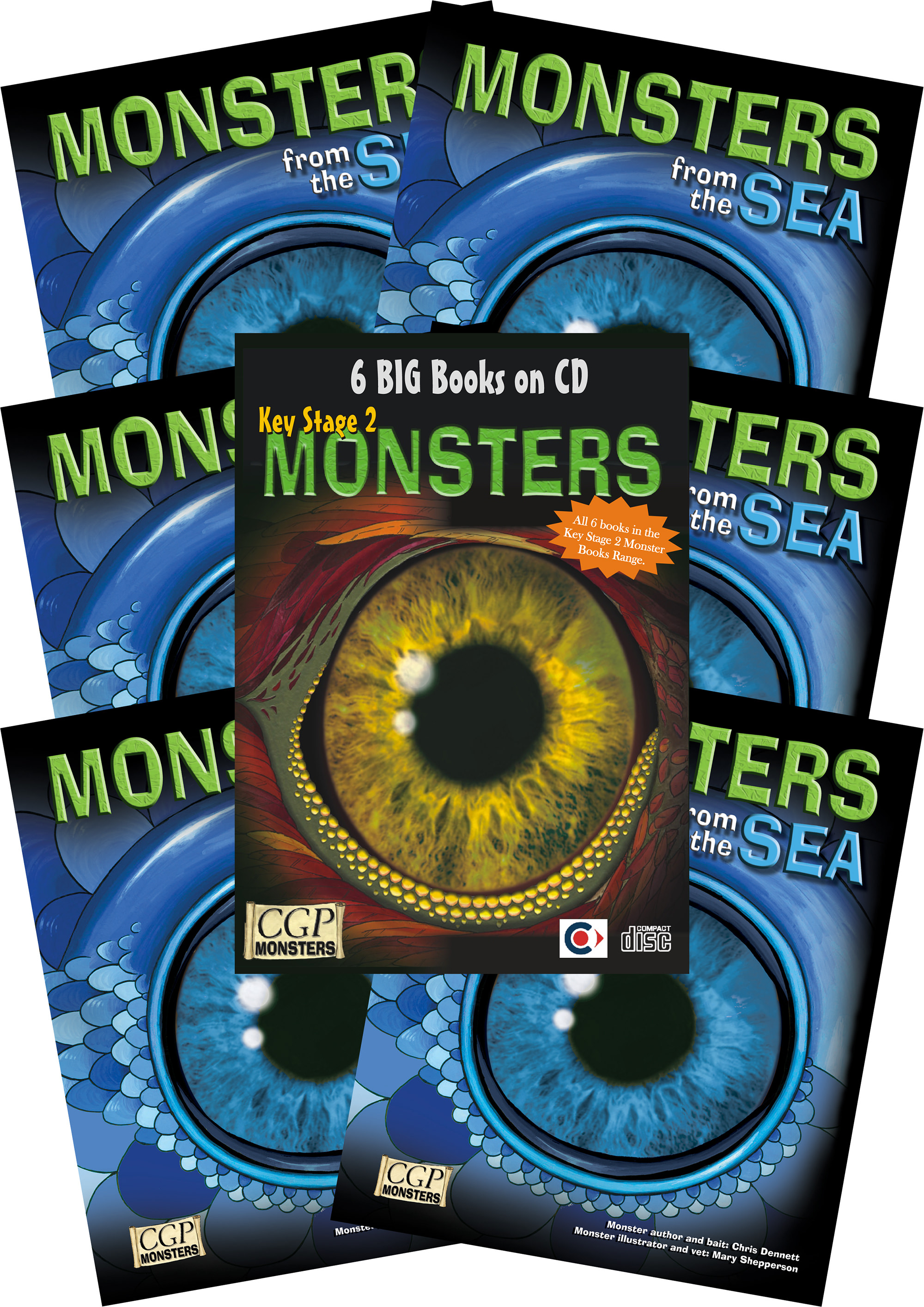 6SEMC2 - 6 x KS2 Monsters from the Sea + CDROM