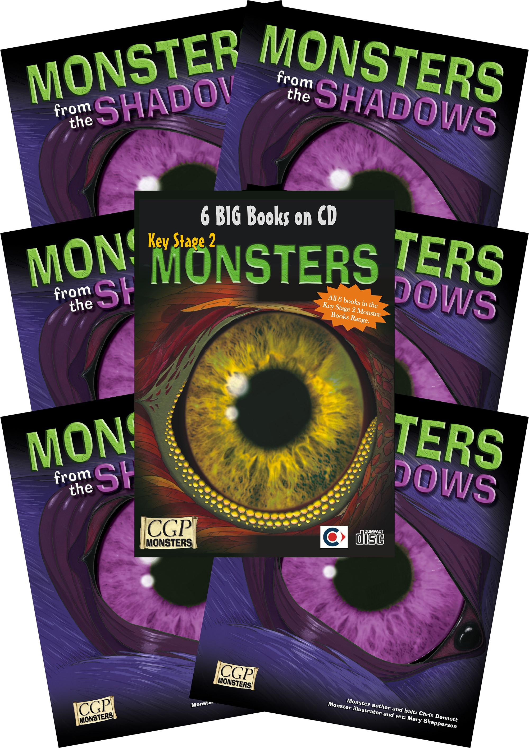 6SHMC2 - 6 x KS2 Monsters from the Shadows + CDROM