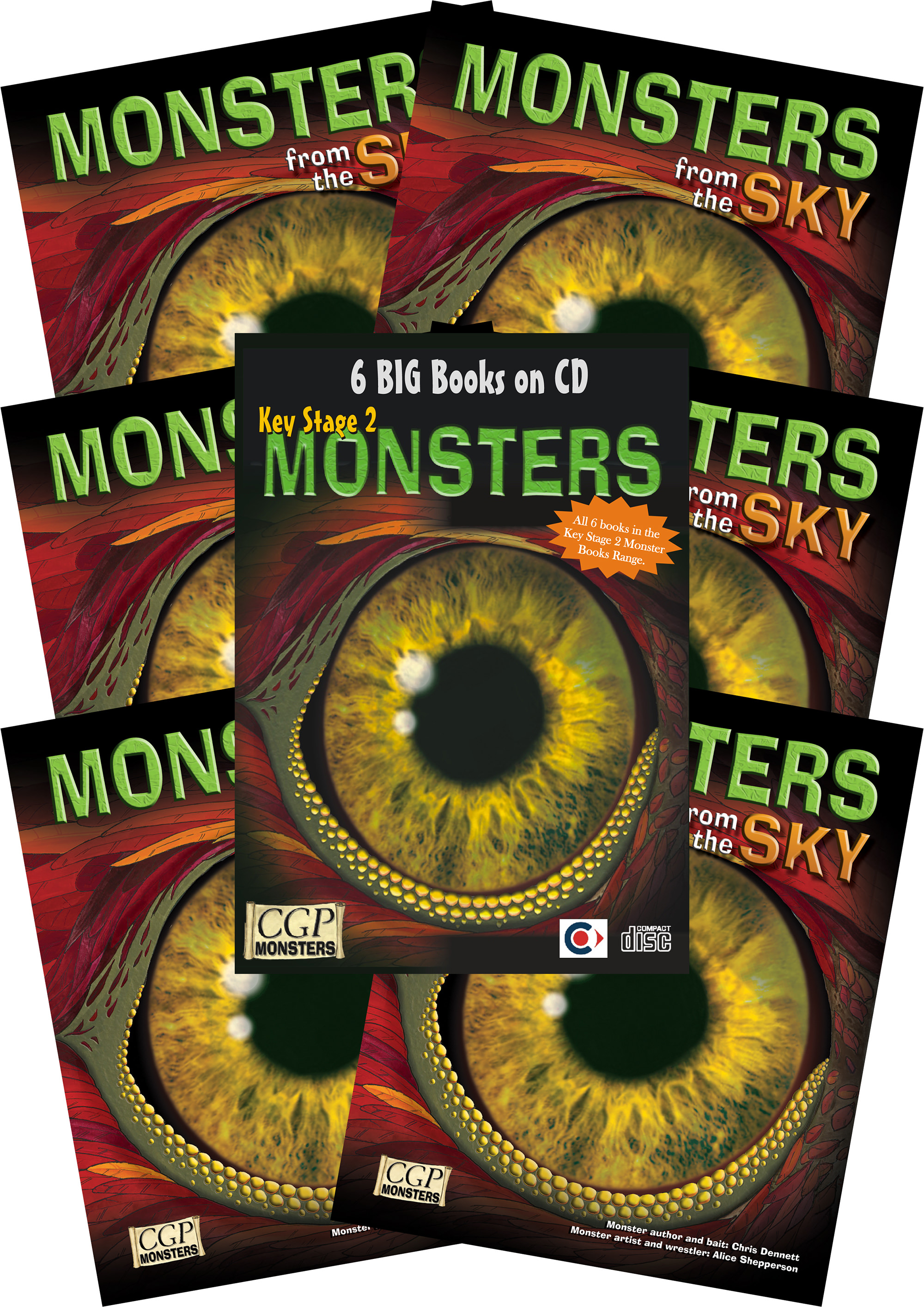 6SKMC2 - 6 x KS2 Monsters from the Sky + CDROM