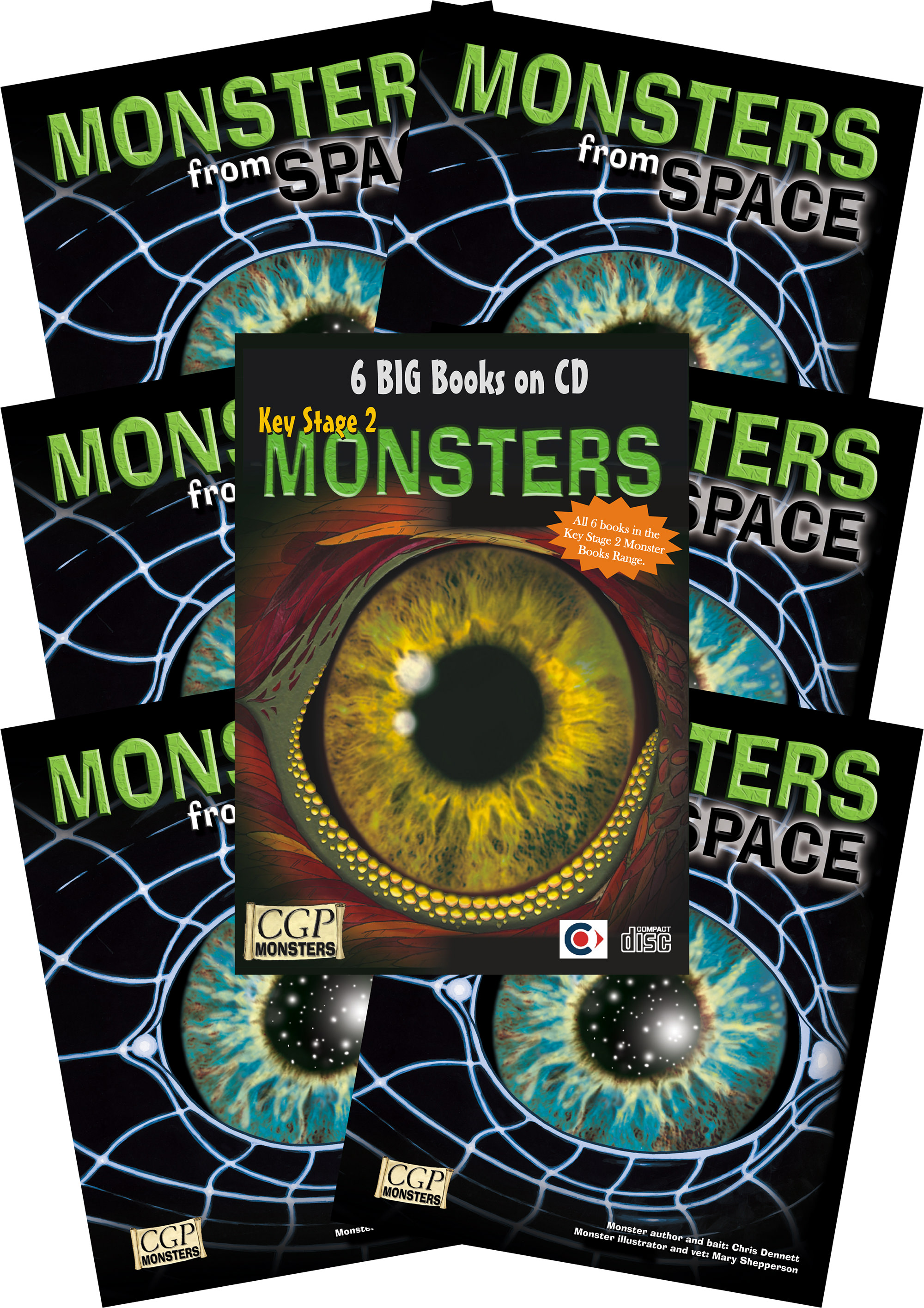 6SPMC2 - 6 x KS2 Monsters from Space + CDROM