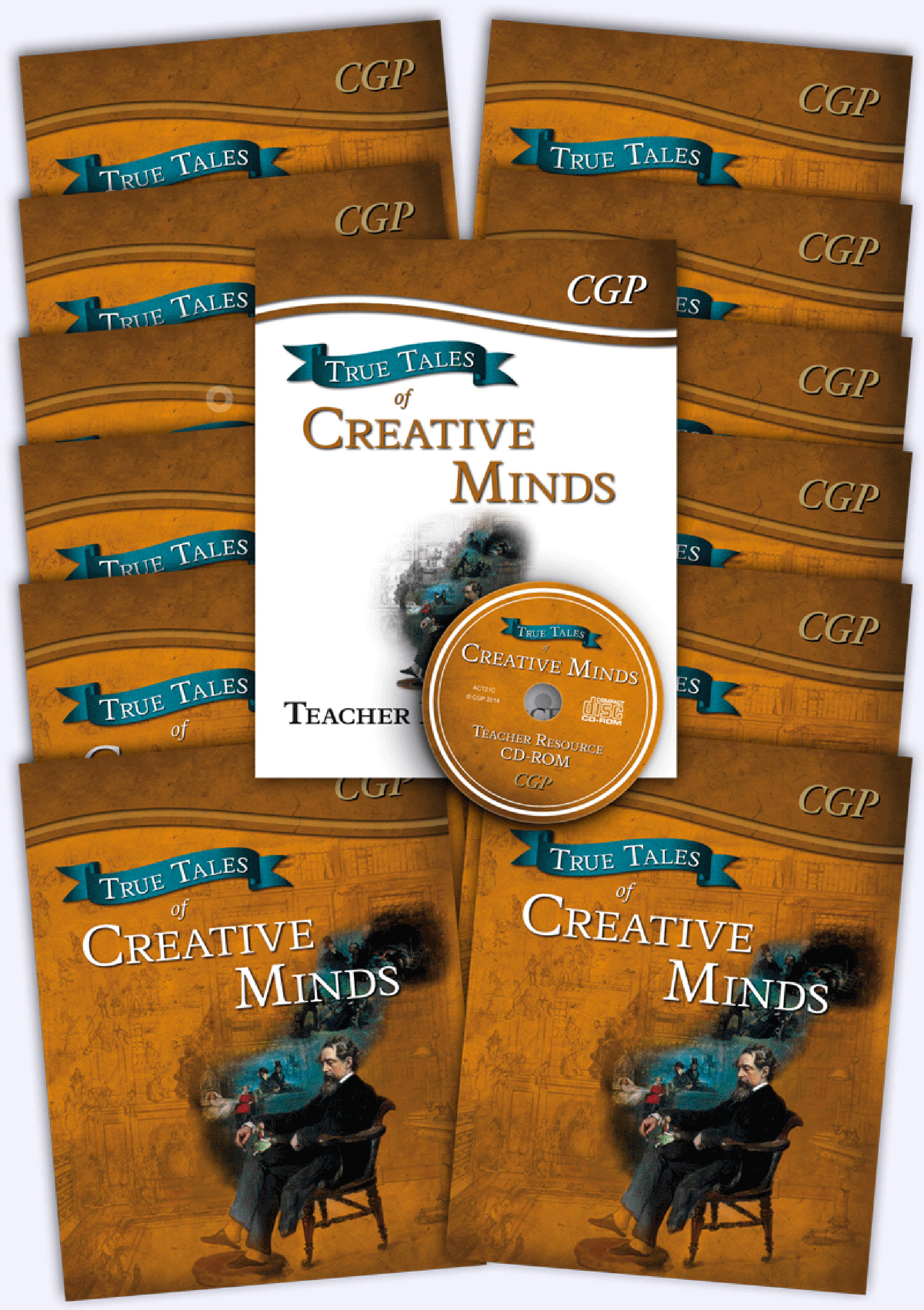 ACB21 - True Tales of Creative Minds Big Bundle: 12 x Reading Book & Matching Teacher Resource Pack