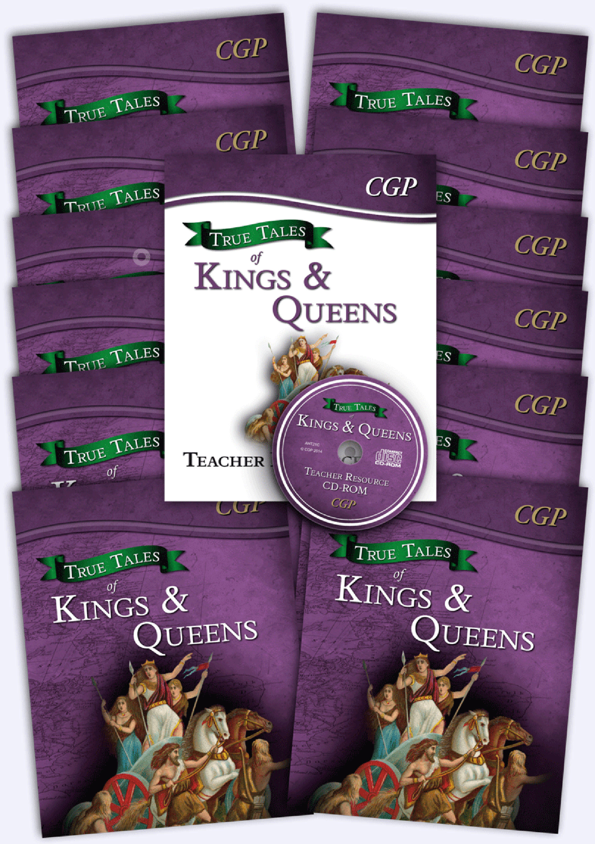 AHB21 - True Tales of Kings & Queens Big Bundle: 12 x Reading Book & Matching Teacher Resource Pack
