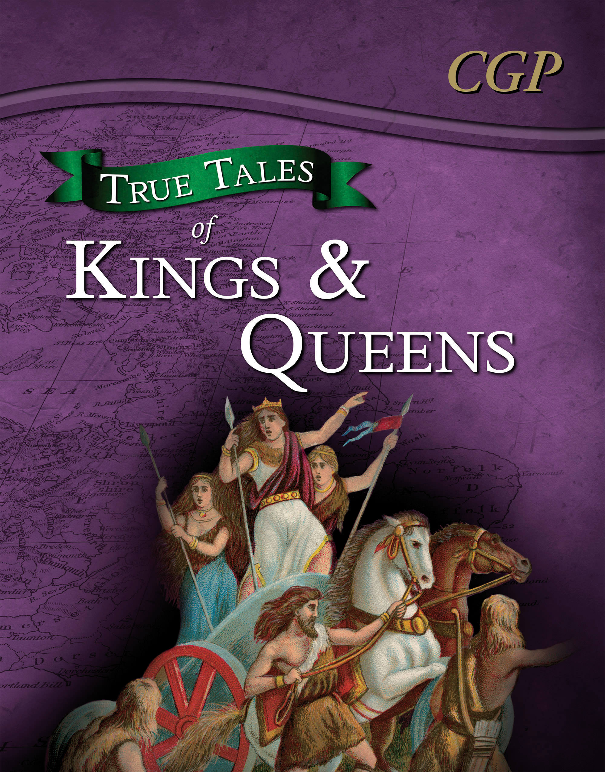 AHR21DK - True Tales of Kings & Queens — Reading Book: Boudica, Alfred the Great, King John & Queen