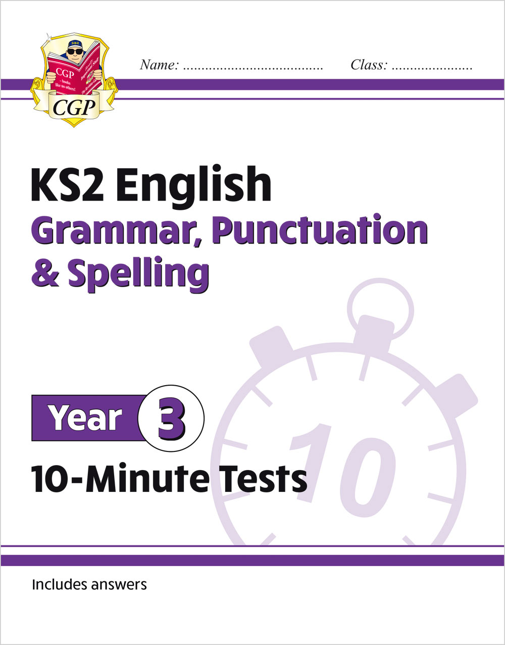 E3GXP21 - New KS2 English 10-Minute Tests: Grammar, Punctuation & Spelling - Year 3