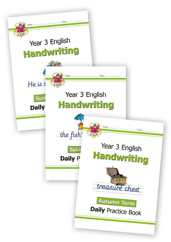 E3HWB21 - New KS2 Handwriting Daily Practice Book Bundle: Year 3 - Autumn Term, Spring Term & Summer