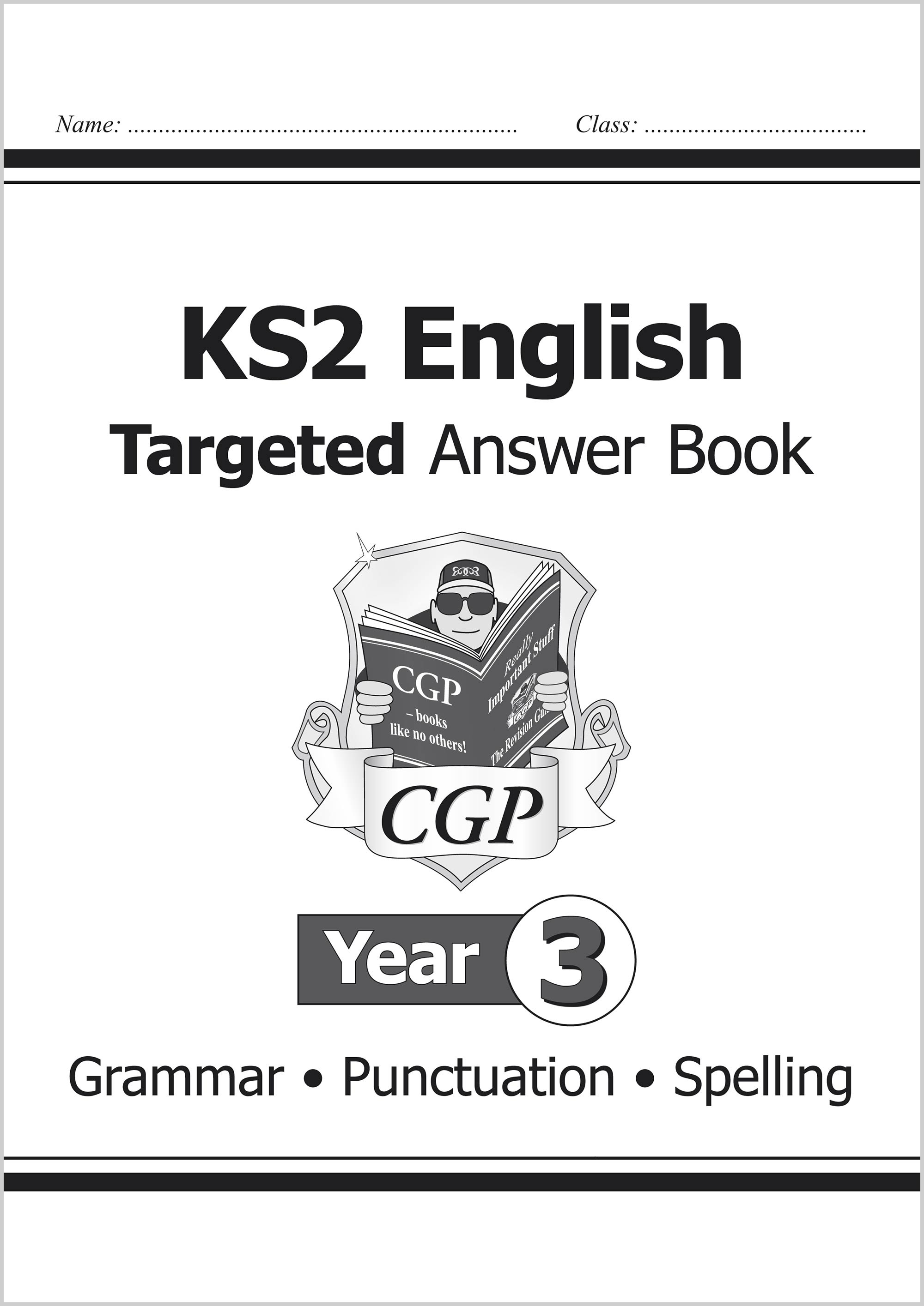 E3SA21 - KS2 English Answers for Targeted Question Books: Grammar, Punctuation and Spelling - Year 3