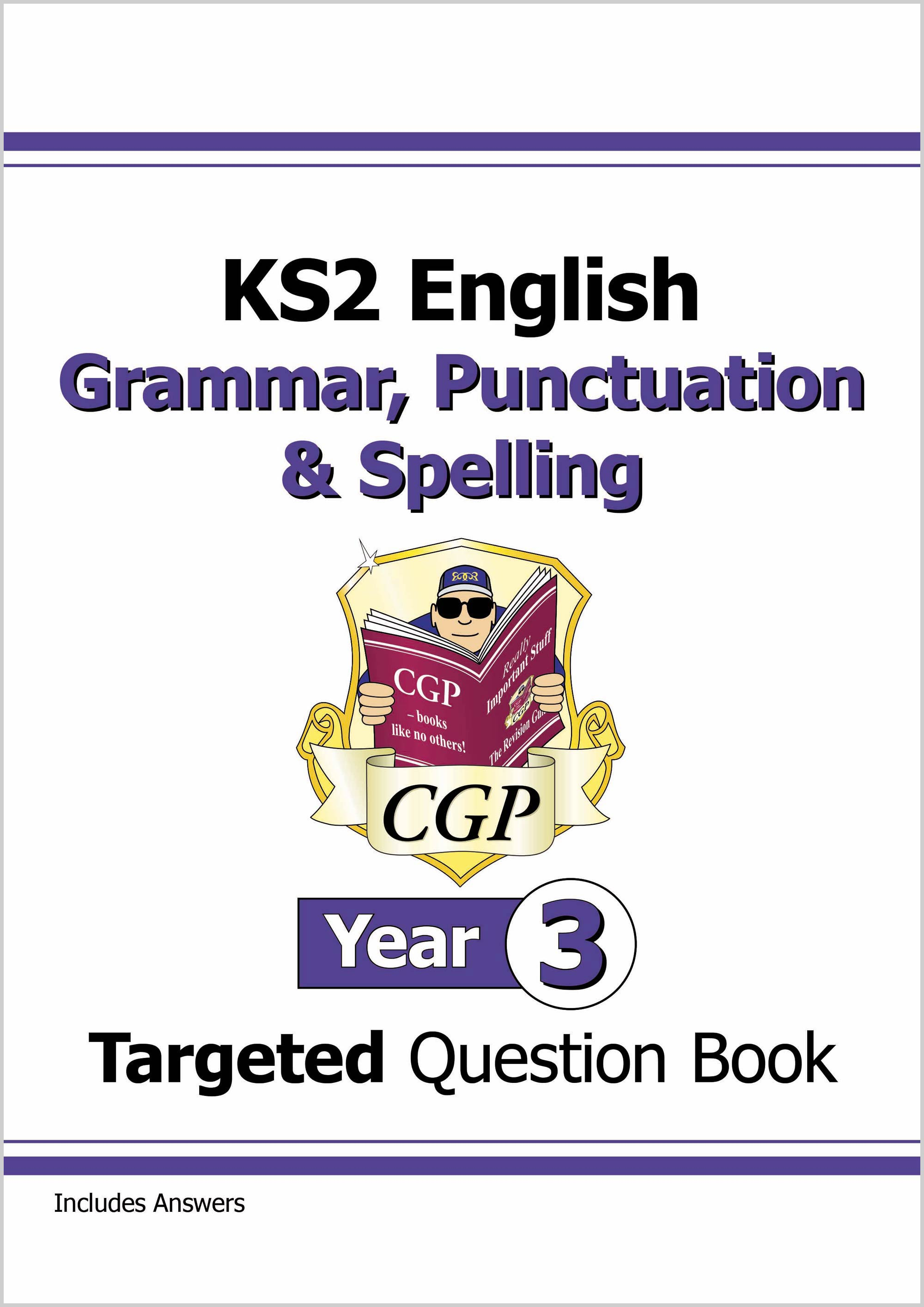 E3W22D - KS2 English Targeted Question Book: Grammar, Punctuation & Spelling - Year 3 Online Edition