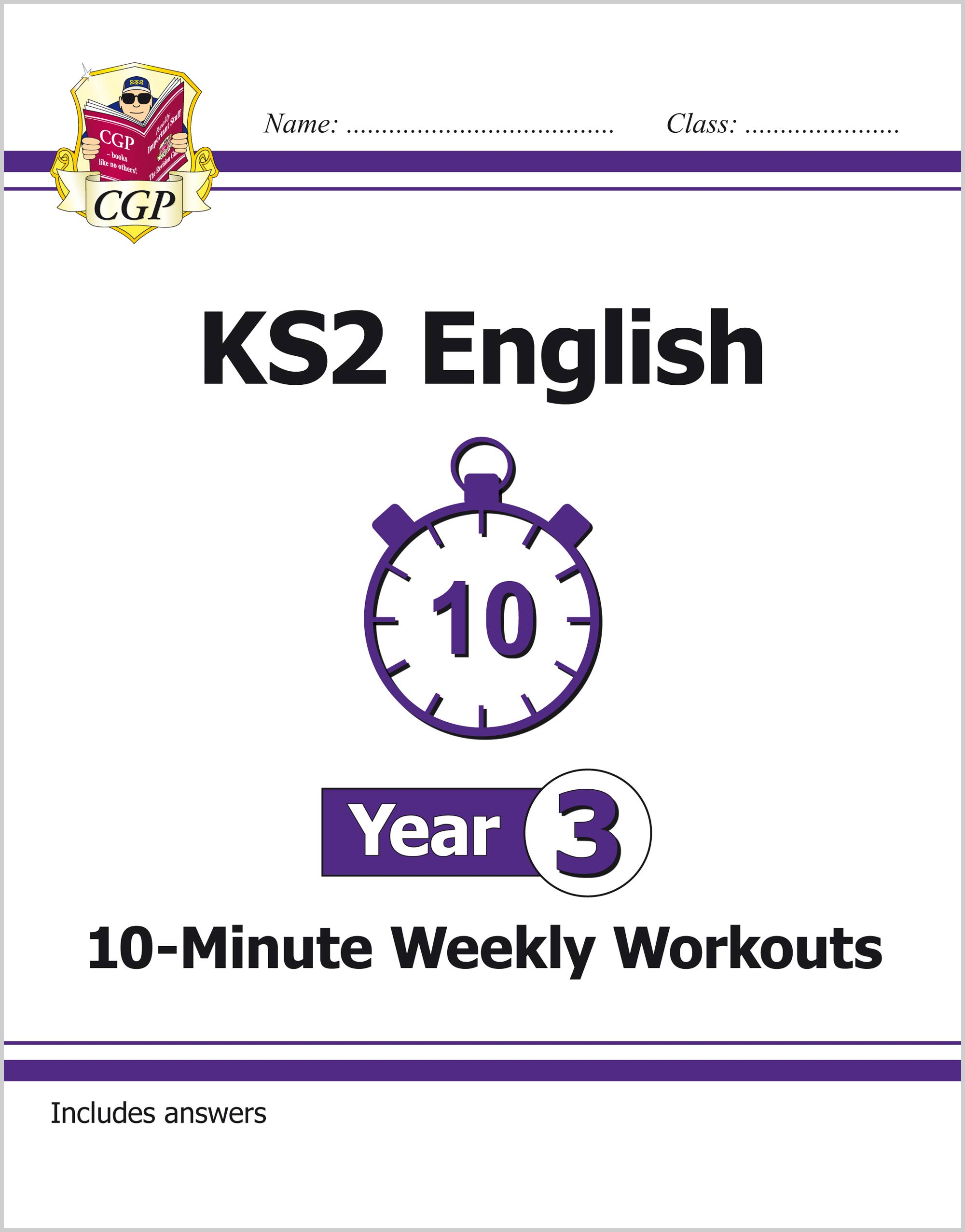 E3XW21 - New KS2 English 10-Minute Weekly Workouts - Year 3