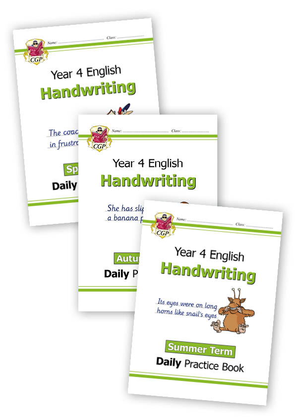 E4HWB21 - New KS2 Handwriting Daily Practice Book Bundle: Year 4 - Autumn Term, Spring Term & Summer