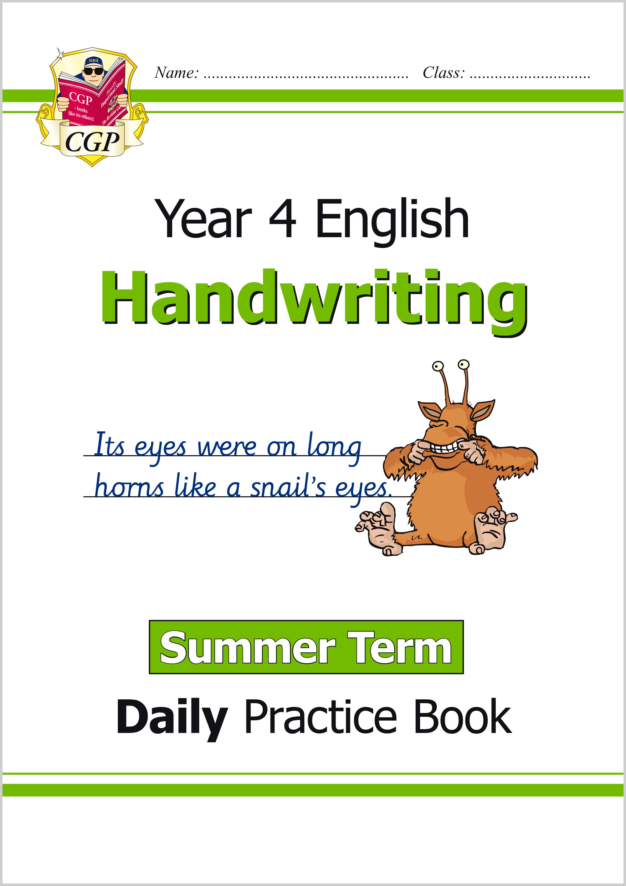 E4HWSU21 - New KS2 Handwriting Daily Practice Book: Year 4 - Summer Term