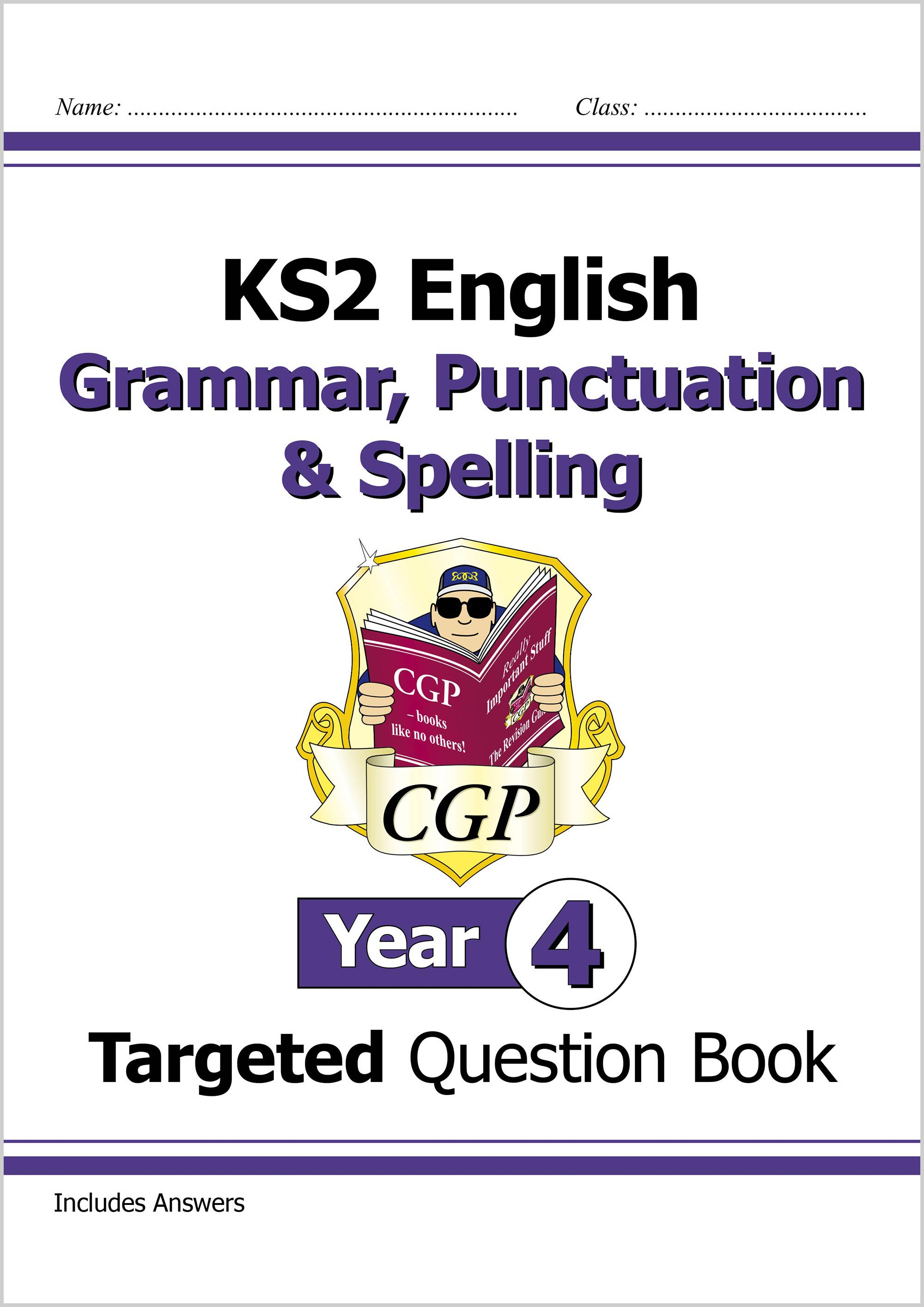 E4W22D - KS2 English Targeted Question Book: Grammar, Punctuation & Spelling - Year 4 Onlin Edition
