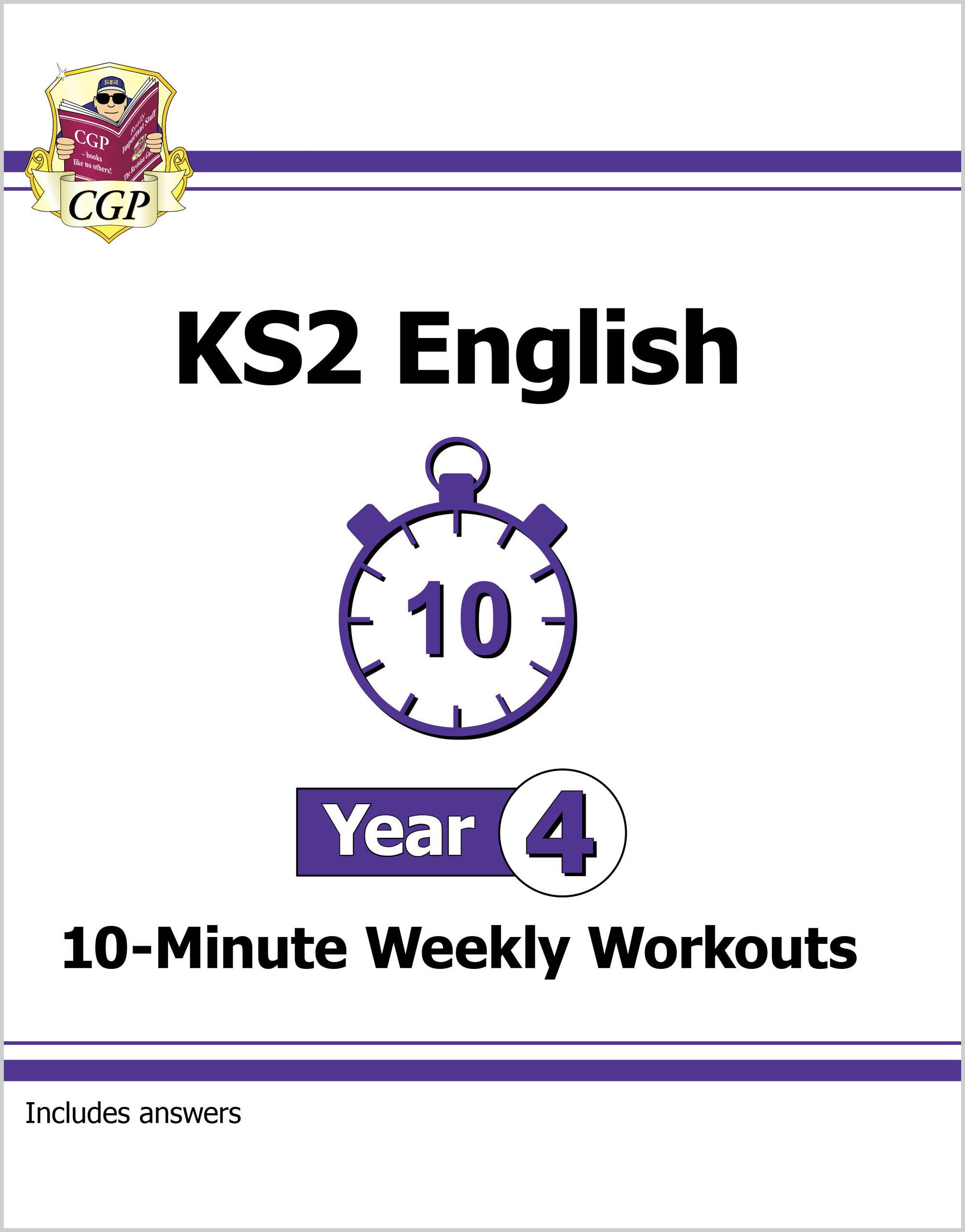 E4XW21DK - New KS2 English 10-Minute Weekly Workouts - Year 4