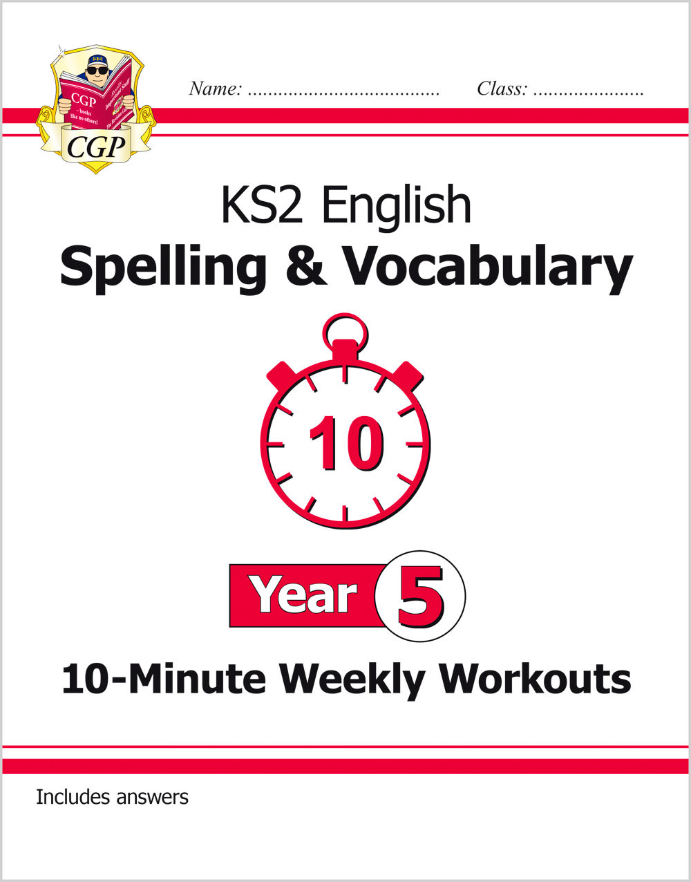 E5VSXW21 - New KS2 English 10-Minute Weekly Workouts: Spelling & Vocabulary - Year 5