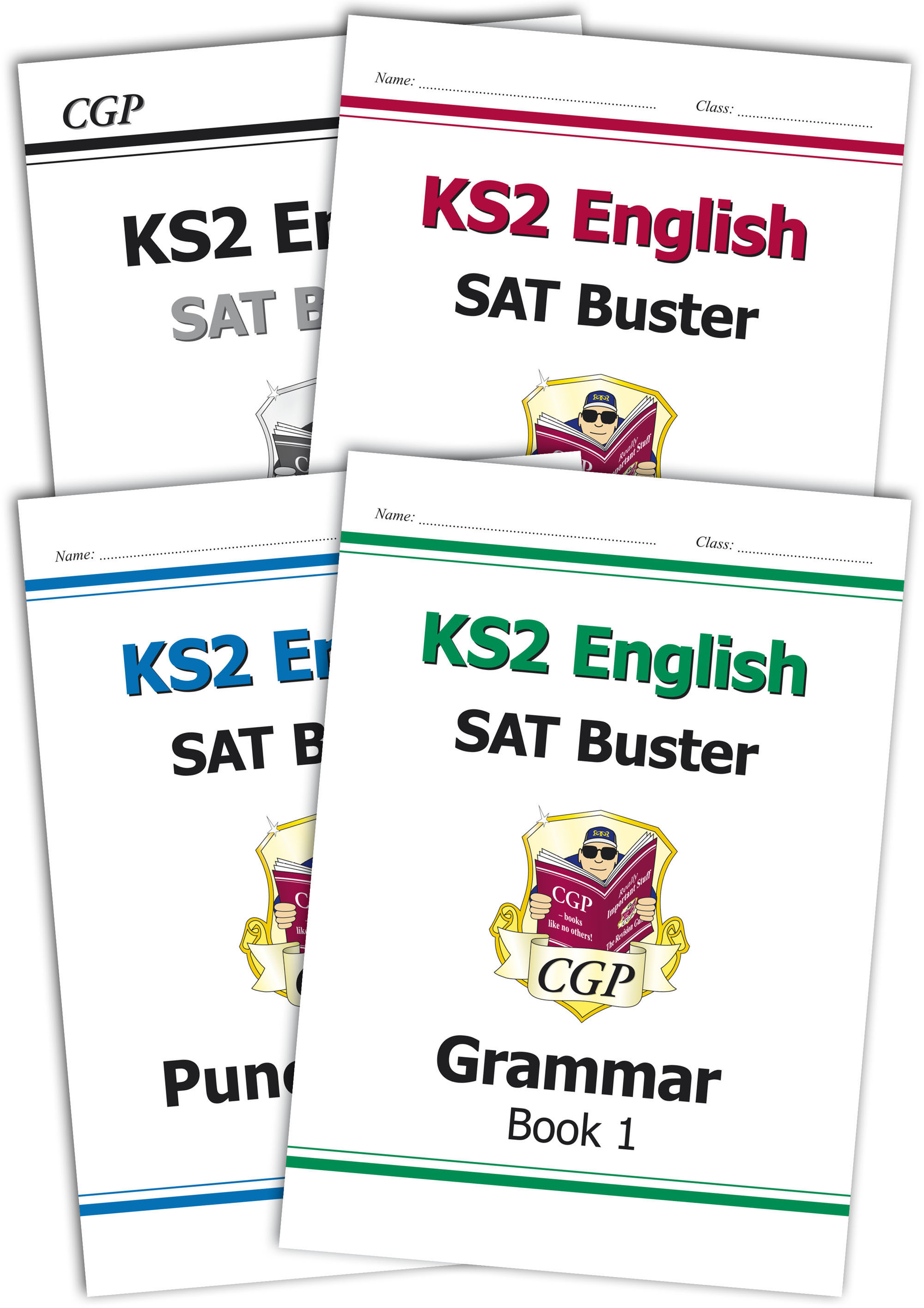 E6SBB23 - The Complete KS2 English SPaG SAT Buster Book 1 Bundle - incl answers (for tests in 2018 a