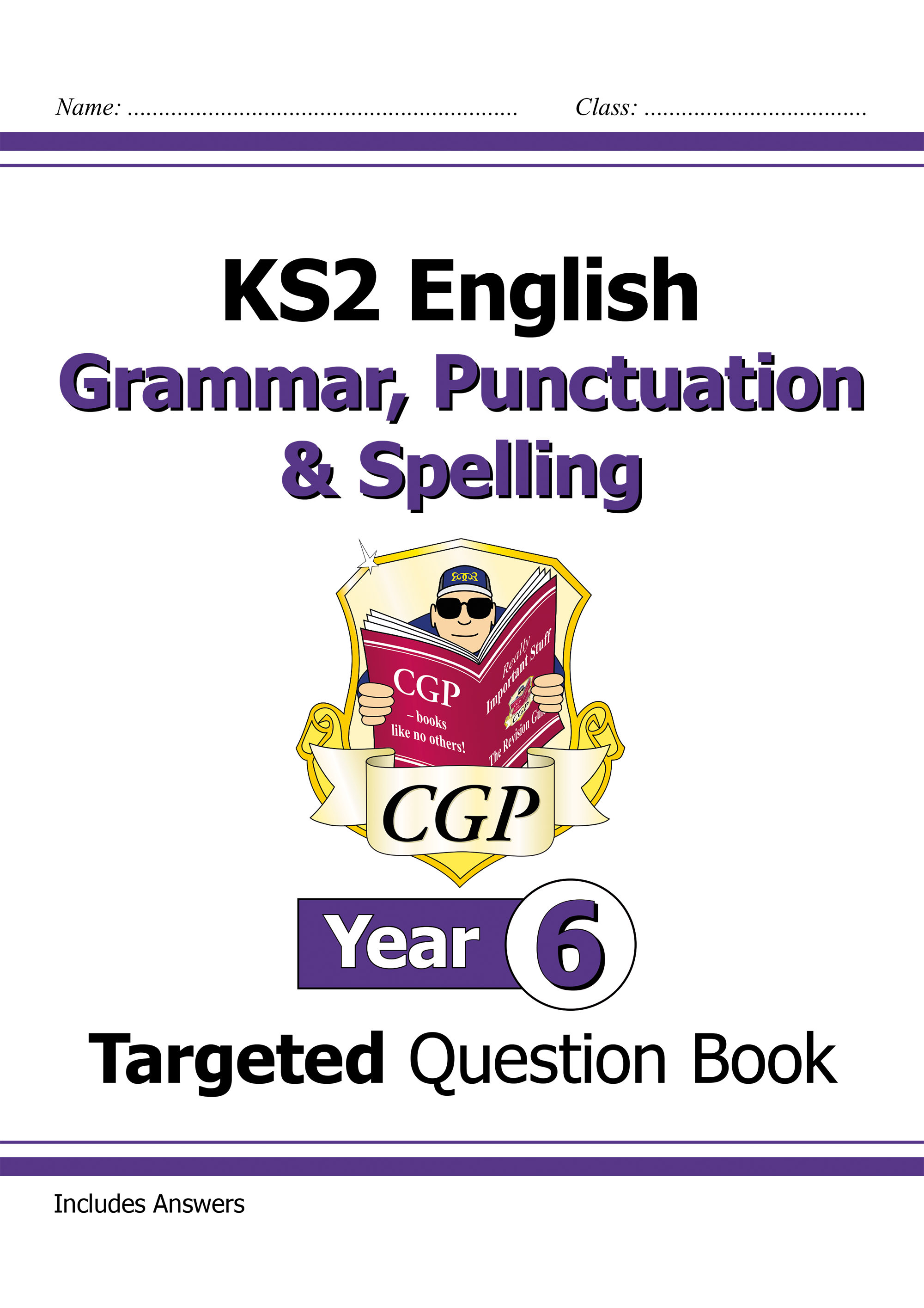 E6W22DK - KS2 English Targeted Question Book: Grammar, Punctuation & Spelling - Year 6