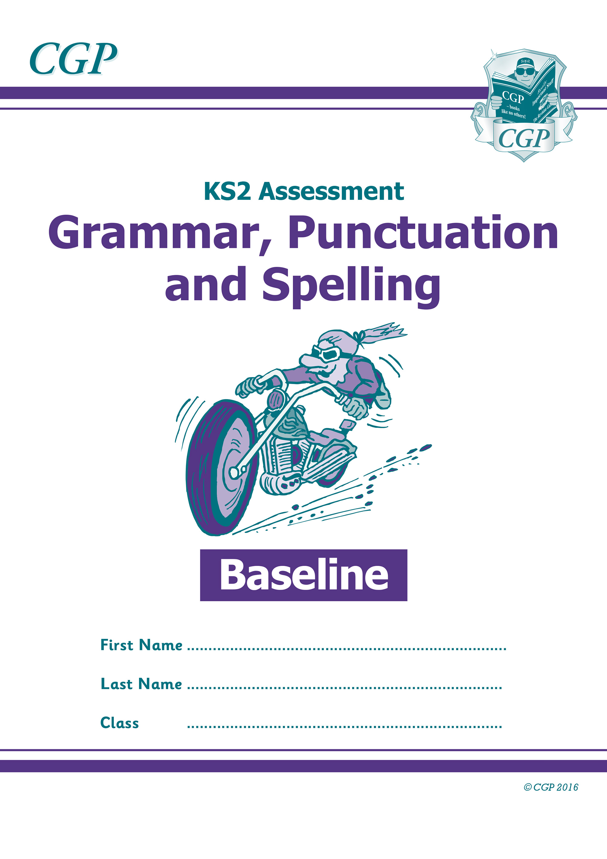 EBGP21 - KS2 Assessment: Spelling, Punctuation & Grammar - Baseline Test