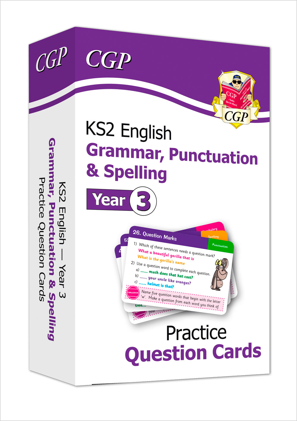 EG3F21 - New KS2 English Practice Question Cards: Grammar, Punctuation & Spelling - Year 3