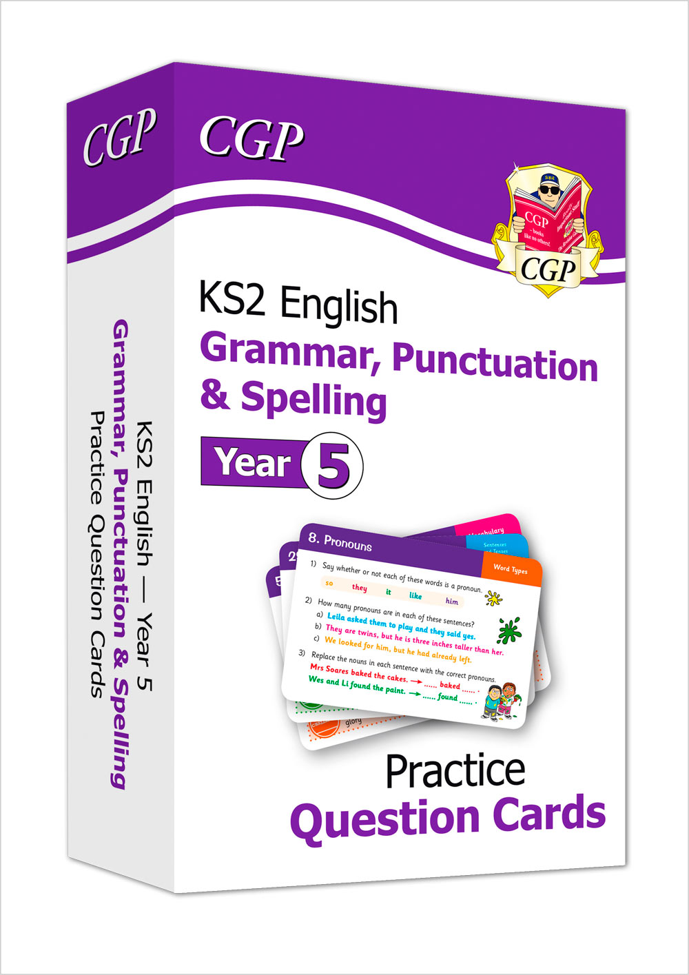 EG5F21 - New KS2 English Practice Question Cards: Grammar, Punctuation & Spelling - Year 5