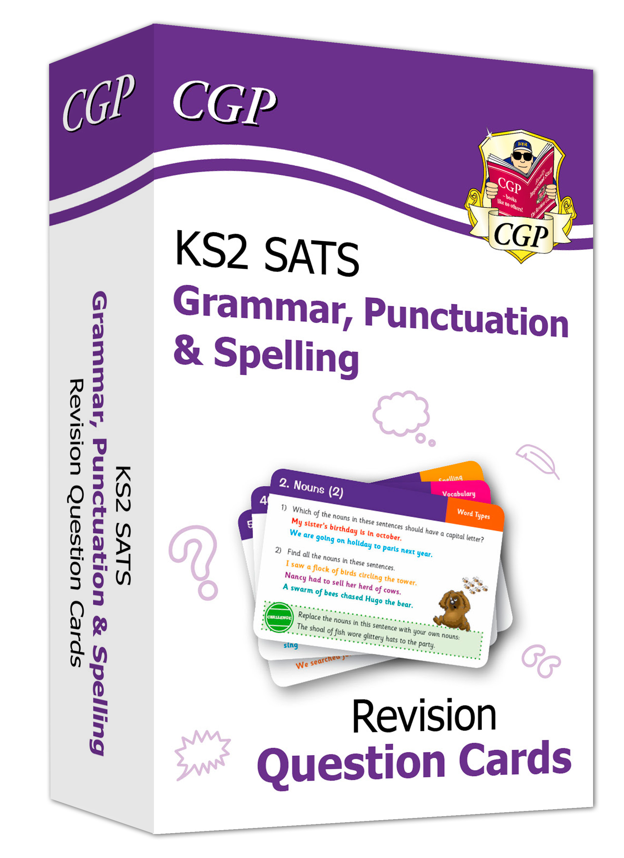 EGF21D - New KS2 English SATS Revision Cards: Grammar, Punctuation & Spelling (for the 2021 tests)