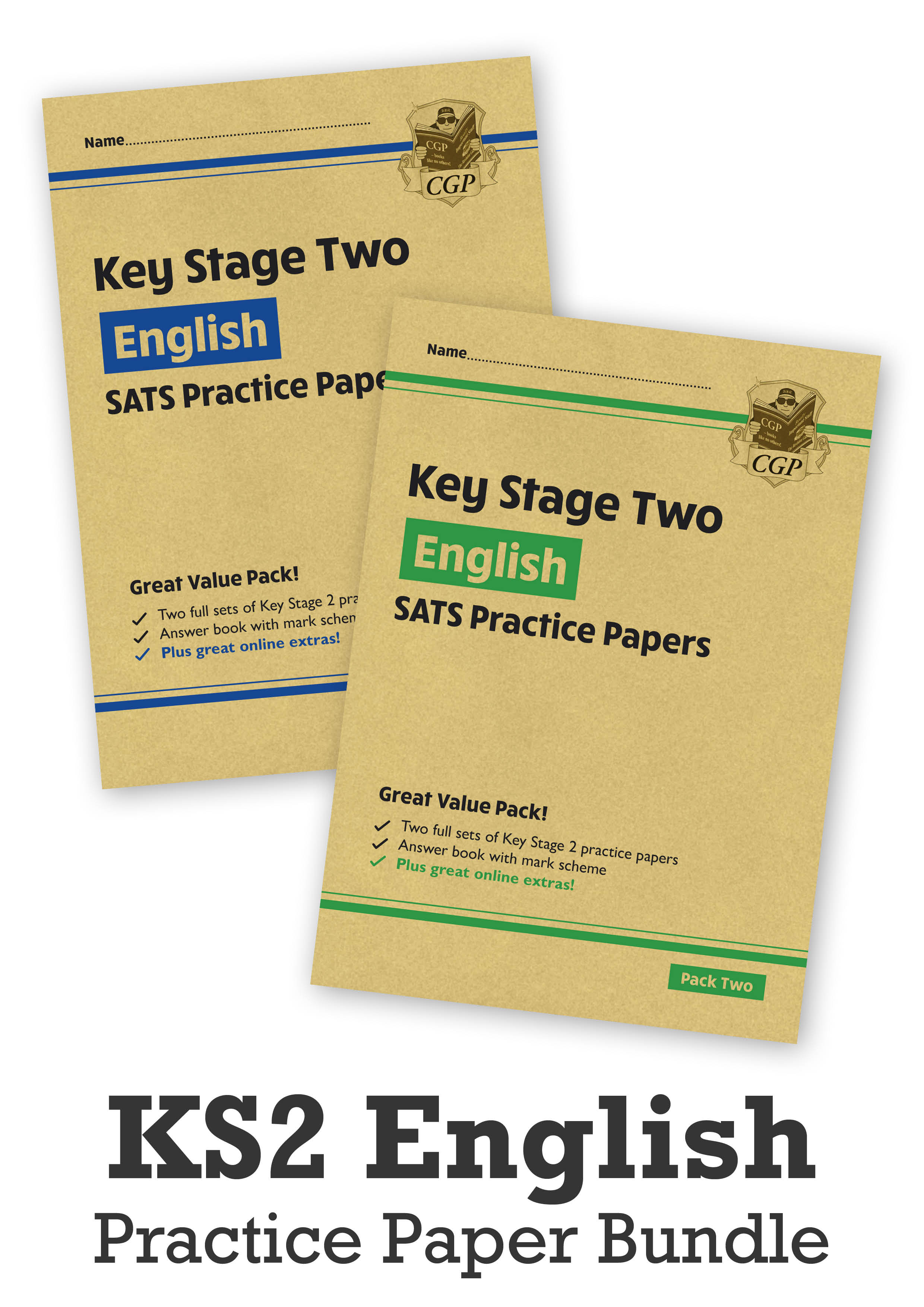 EHB2P24 - KS2 English SATS Practice Paper Bundle: Pack 1 & 2 - for the 2021 tests (with Online Extra