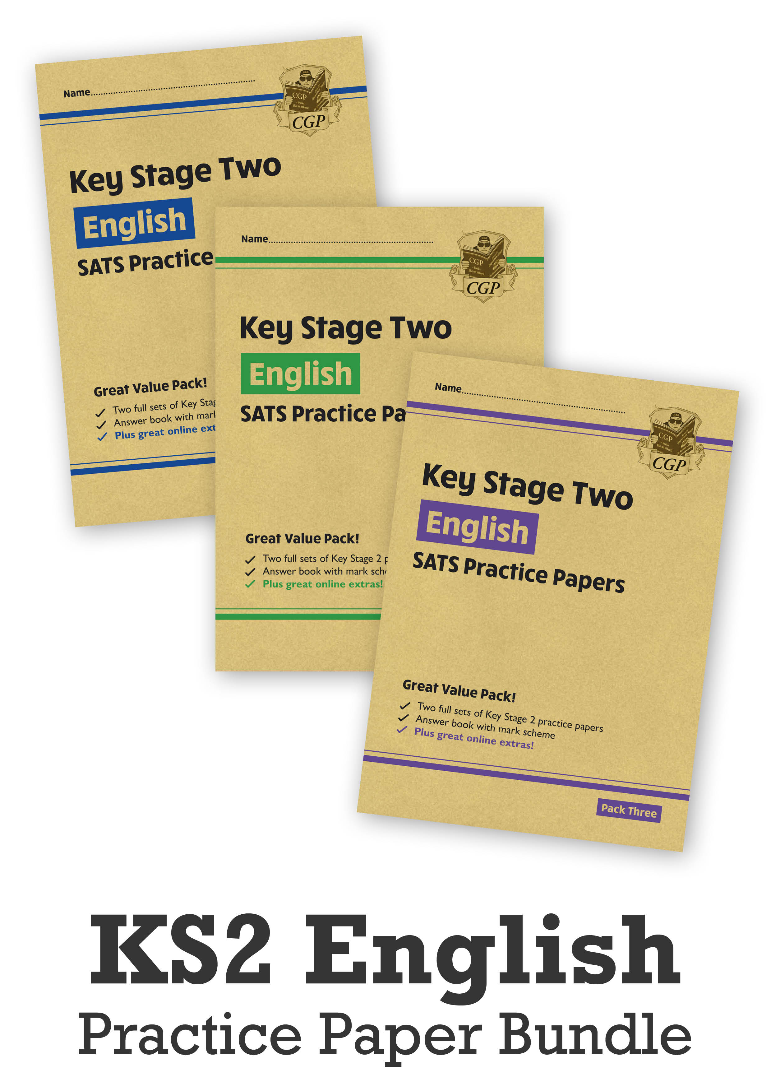 EHB3P24 - KS2 English SATS Practice Paper Bundle: Packs 1, 2, & 3 (with Online Extras)