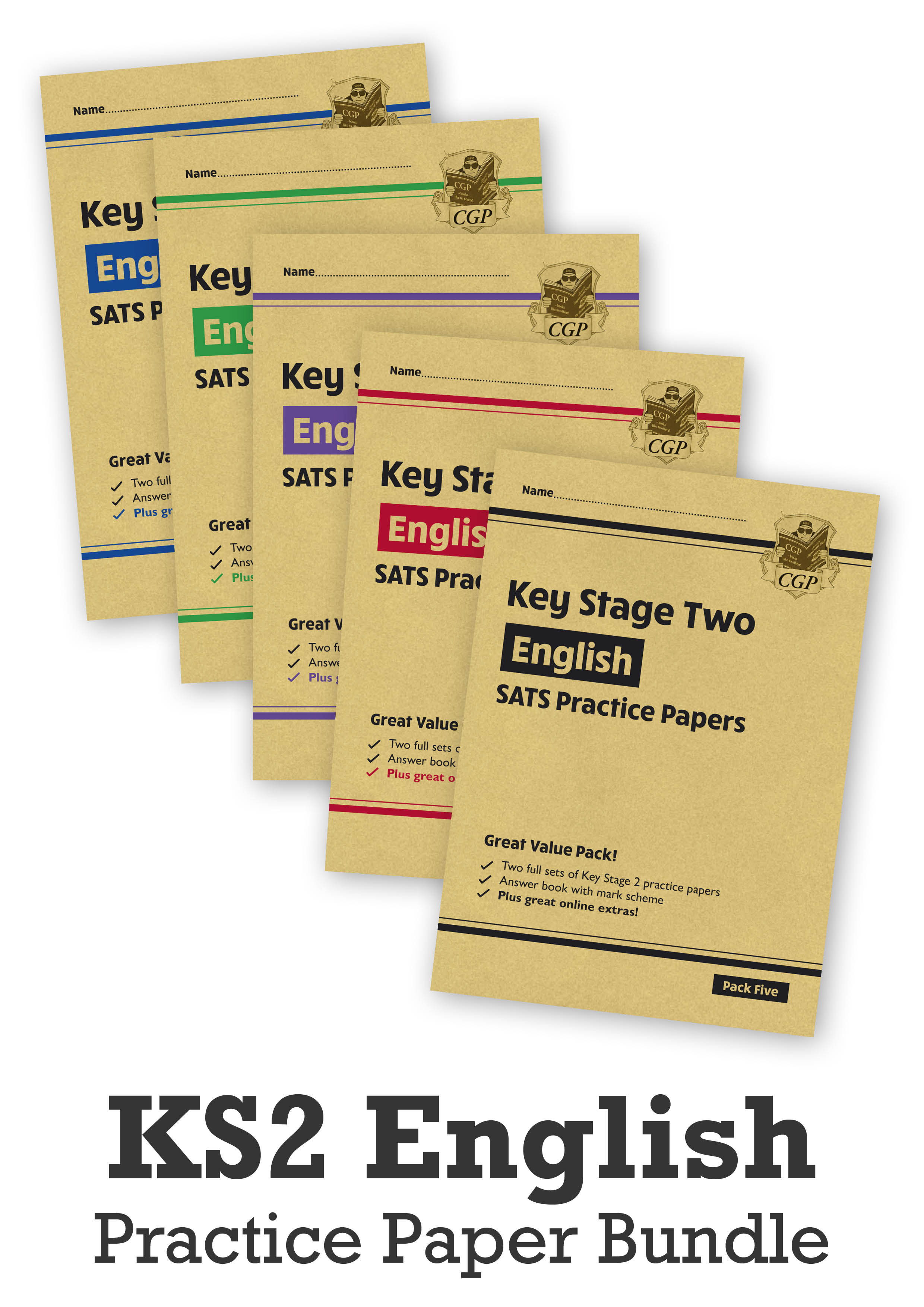 EHB5P24 - KS2 English SATS Practice Paper Bundle: Packs 1, 2, 3, 4 & 5 (with Online Extras)