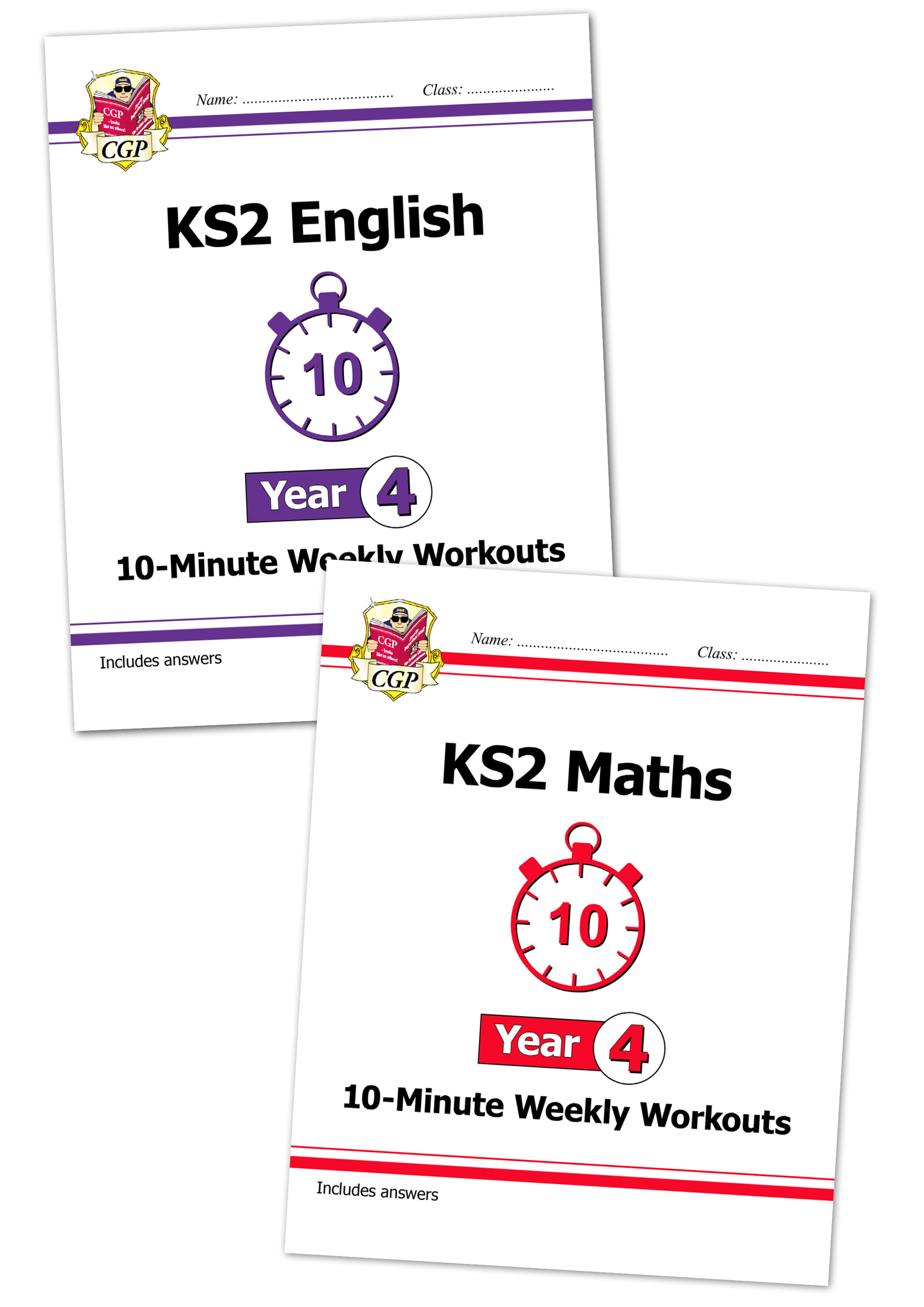 EM4XWB21 - New KS2 Maths and English 10-Minute Weekly Workouts Bundle - Year 4