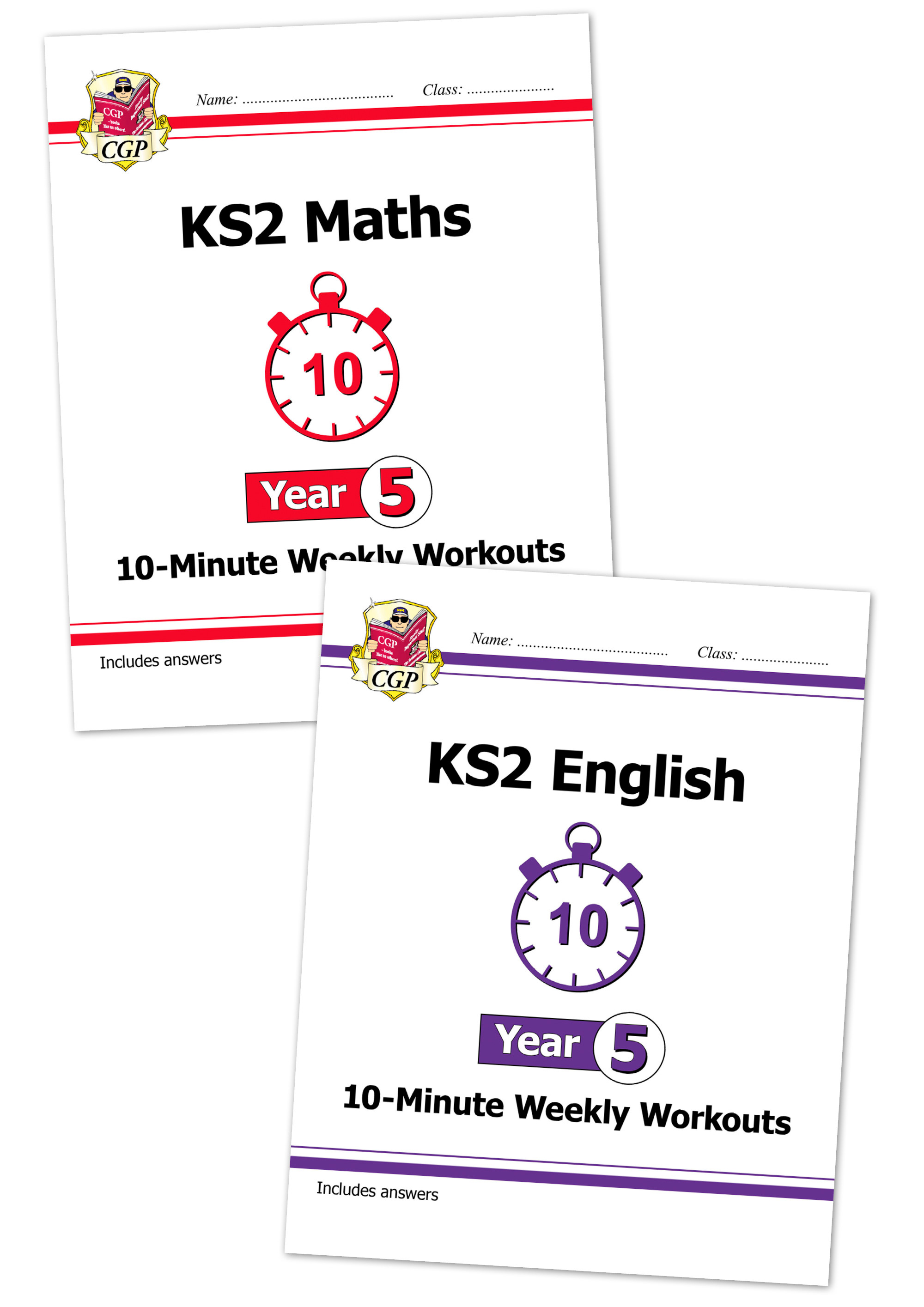 EM5XWB21 - KS2 Maths and English 10-Minute Weekly Workouts Bundle - Year 5