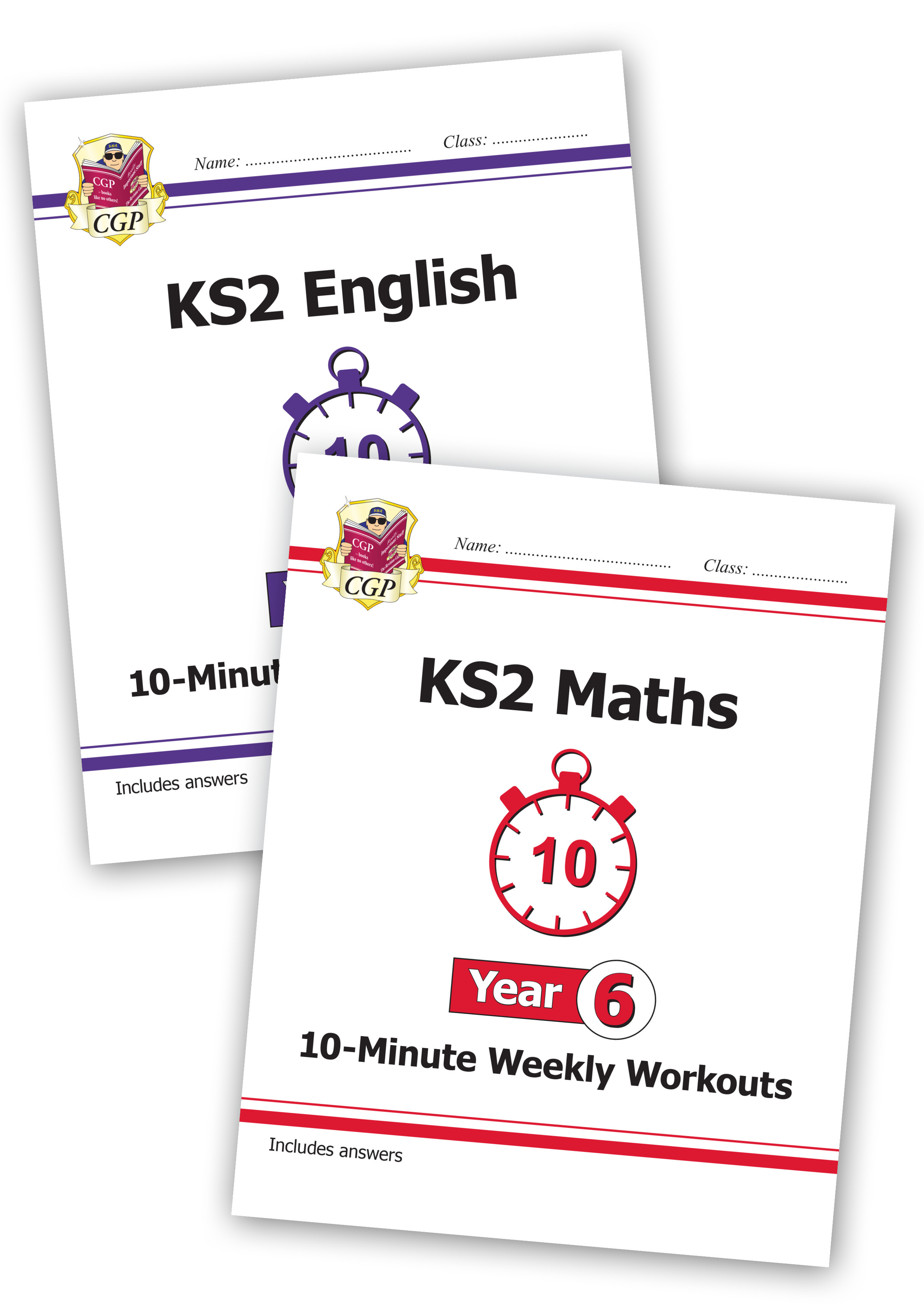 EM6XWB21 - New KS2 Maths and English 10-Minute Weekly Workouts Bundle - Year 6
