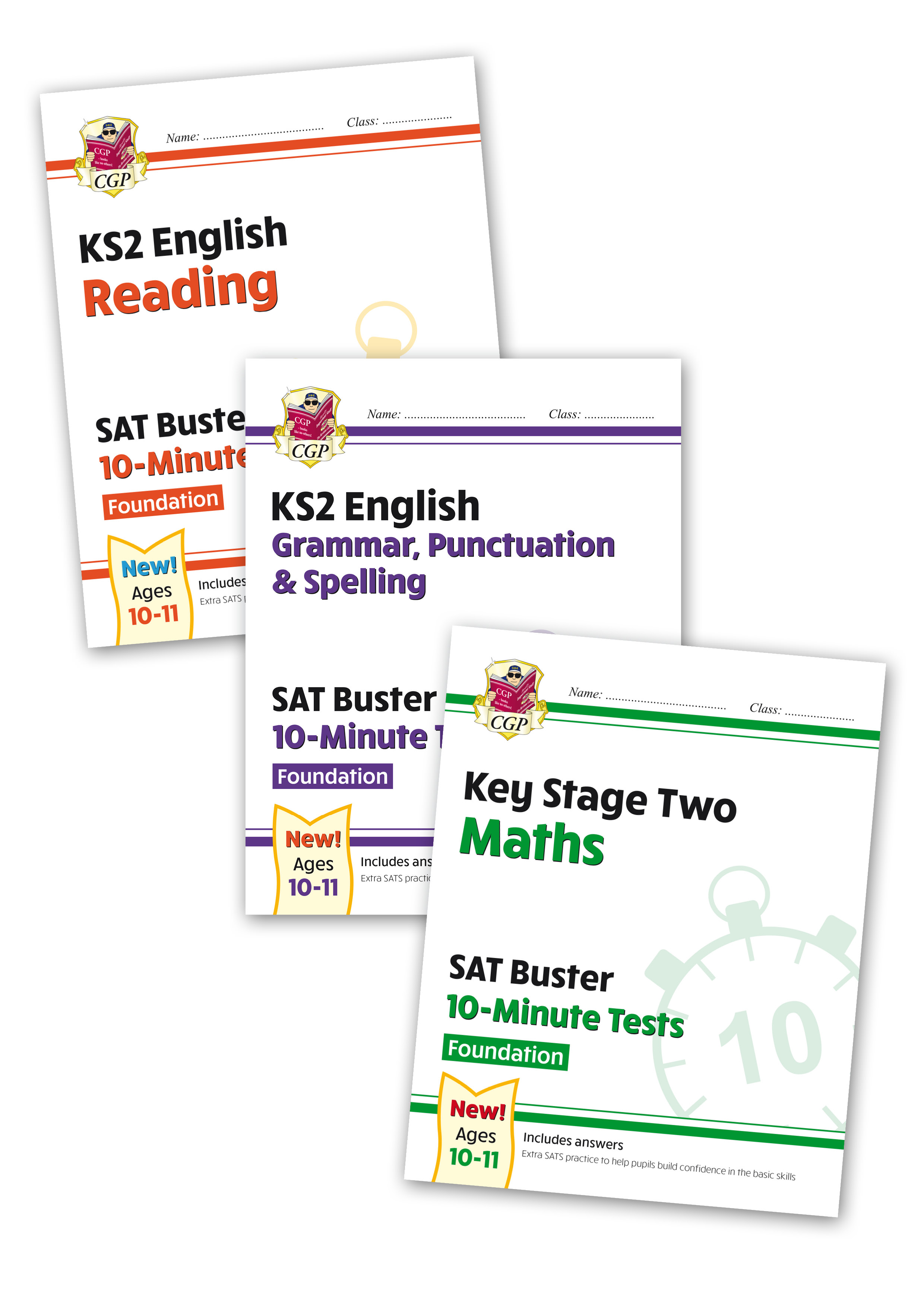 EMFXB21 - New Complete KS2 Maths and English 10-Minute Test SAT Buster Foundation Bundle (for the 20