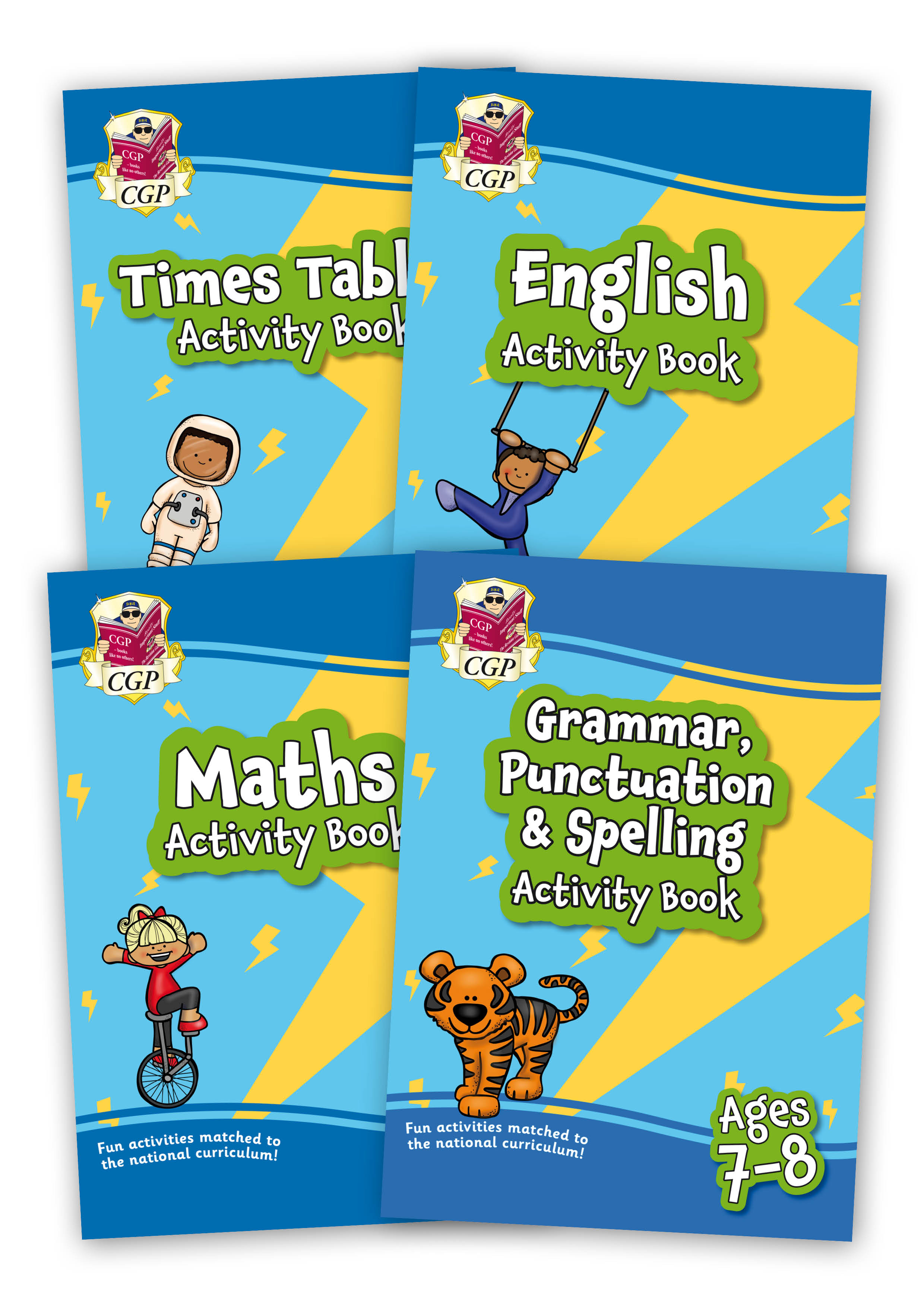 EMPF3B21 - New Home Learning Activity Books - 4-book bundle: KS2 Ages 7-8