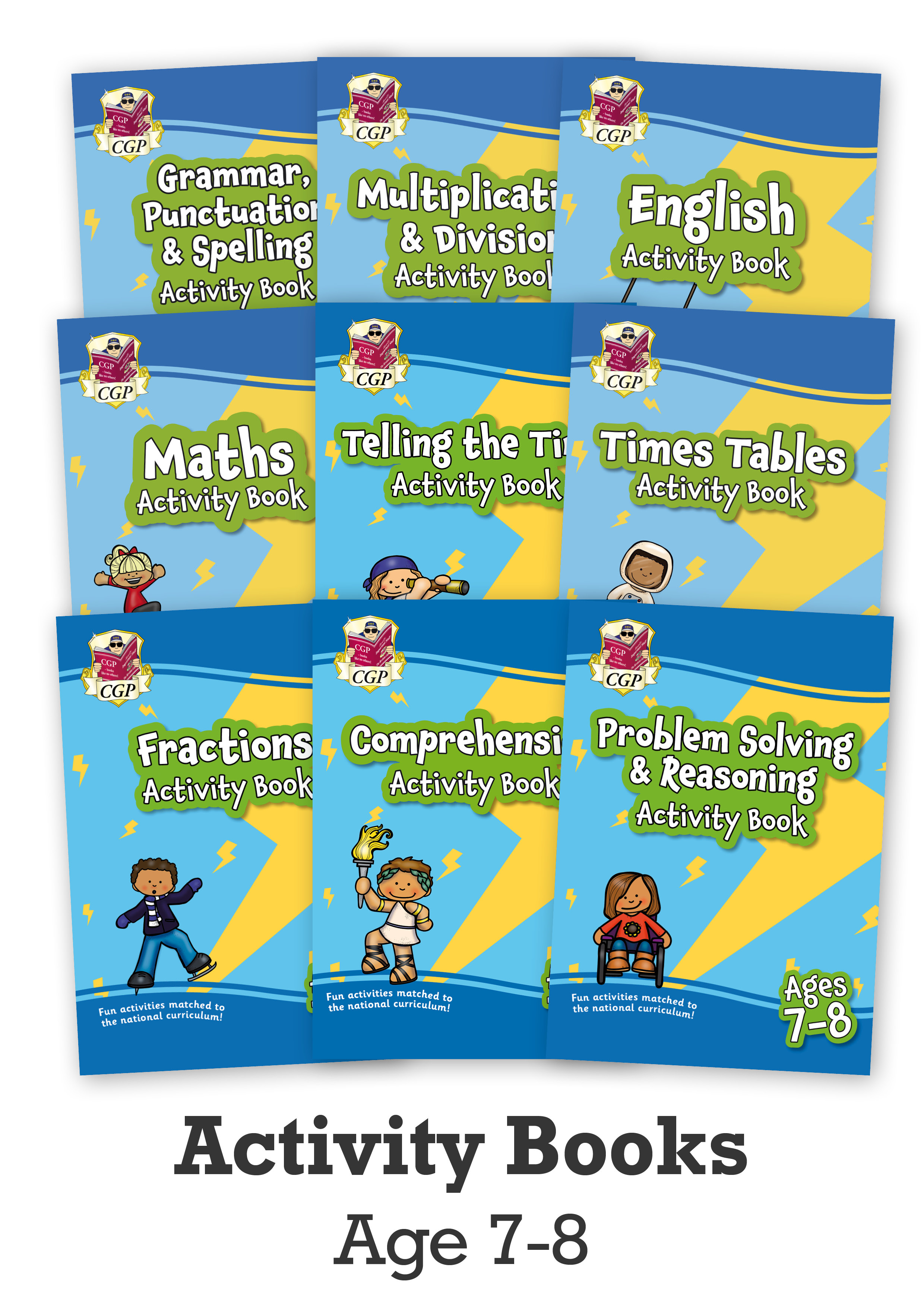 EMPF3B24 - New Ages 7-8 Activity Books - 9-book bundle