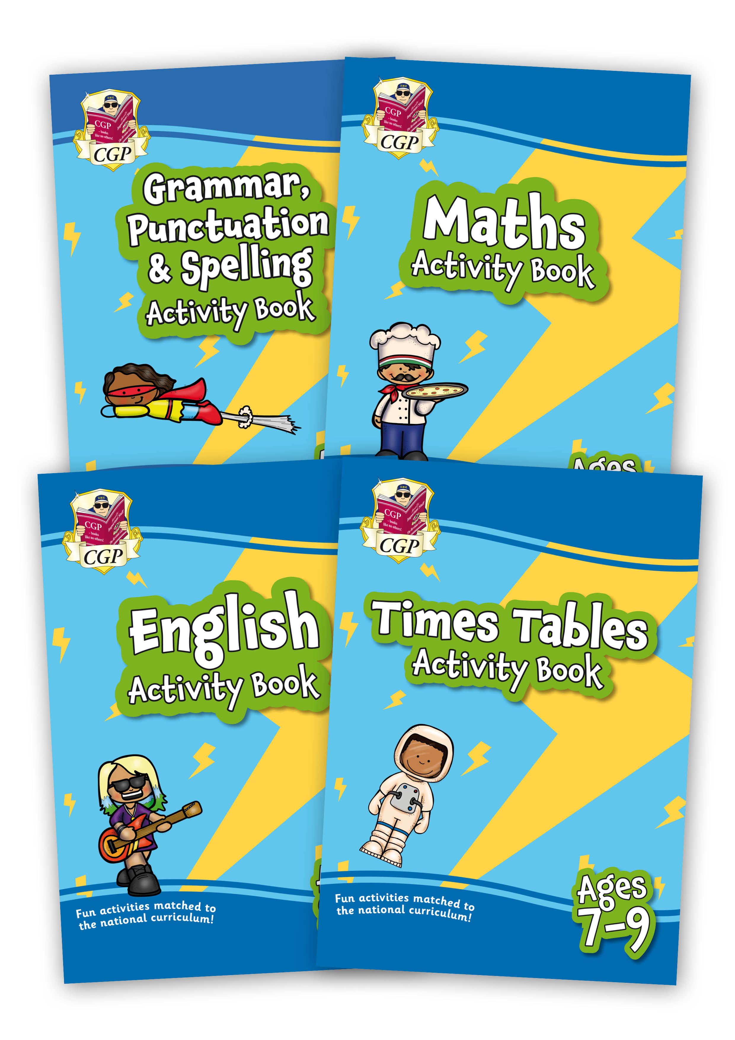 EMPF4B21 - New Home Learning Activity Books - 4-book bundle: KS2 Ages 8-9
