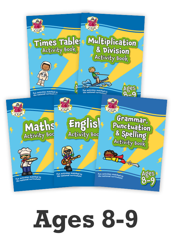 EMPF4B22 - New Ages 8-9 Activity Books - 5-book bundle