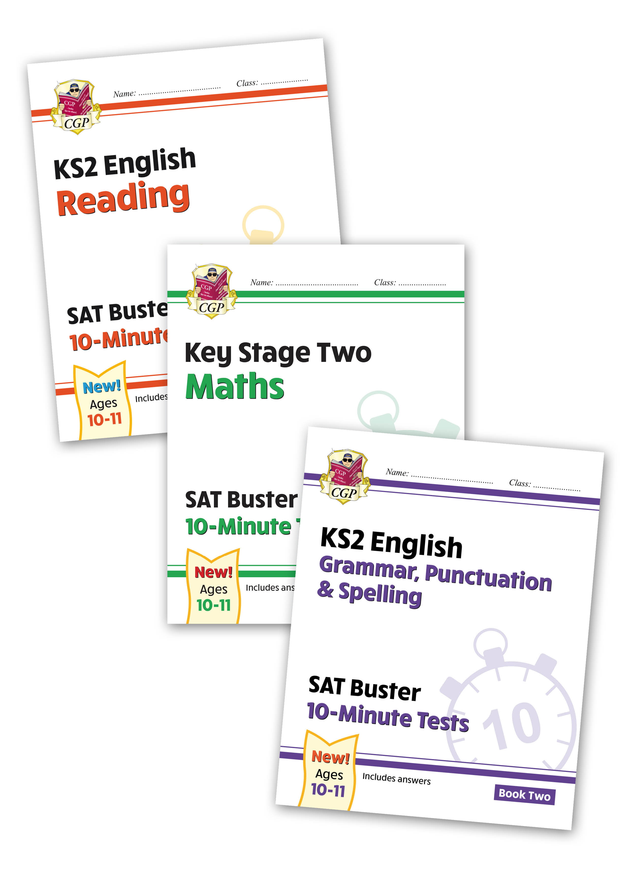 EMXB222 - New Complete KS2 Maths and English 10-Minute Test SAT Buster Book 2 Bundle (for the 2020 t